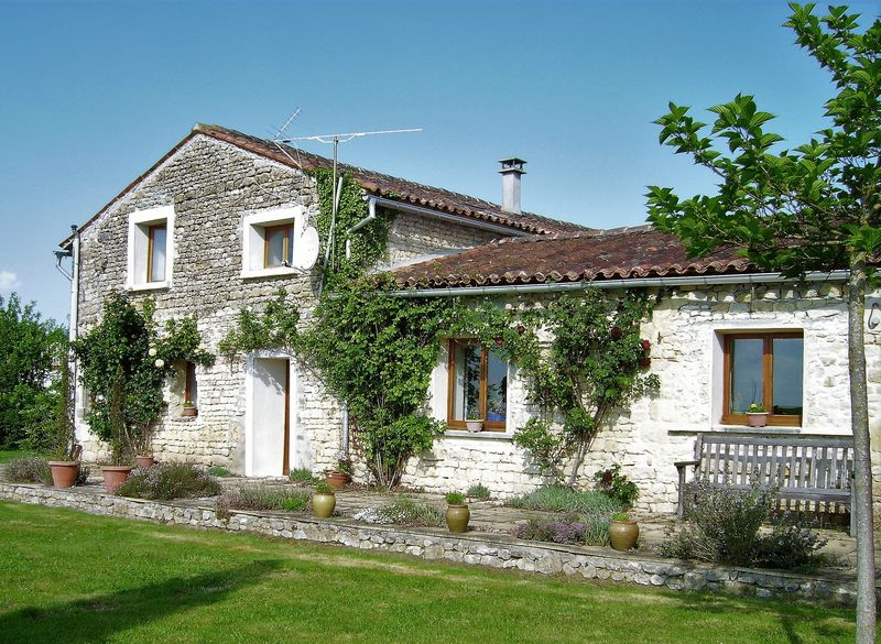 Stone house with great views and a large private gite