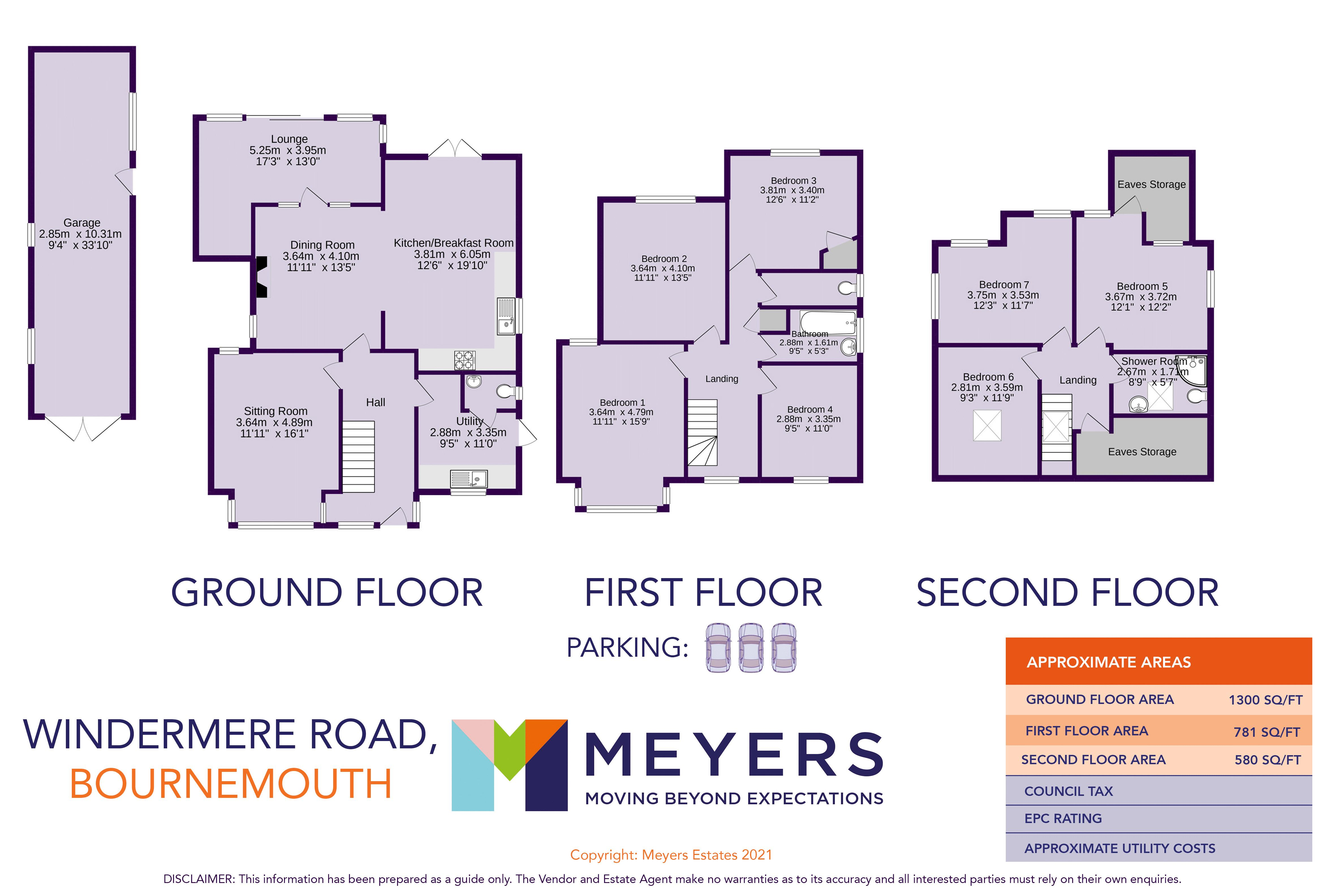 Windermere Road, Bournemouth, BH3 7LF
