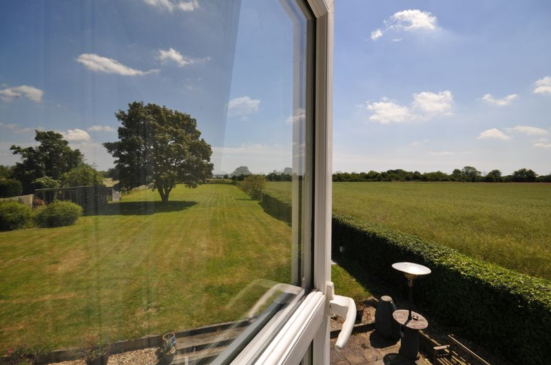Rural view from master bedroom window