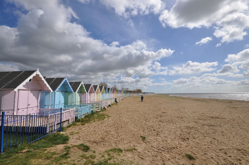 Beach huts front
