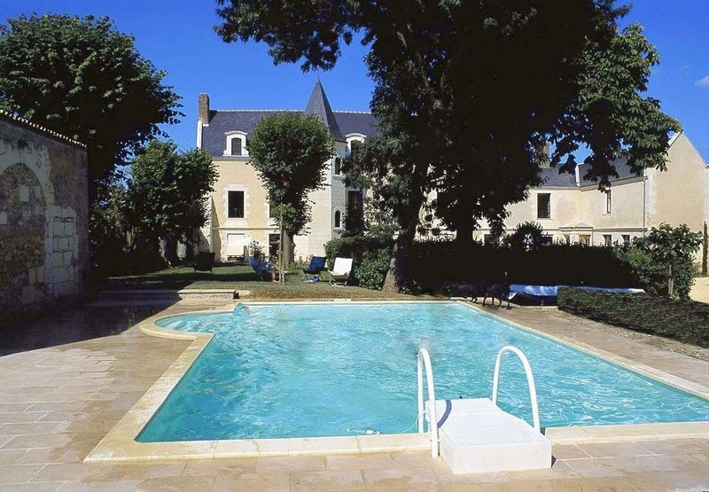 Château with 6 apartments + pool in pretty walled town
