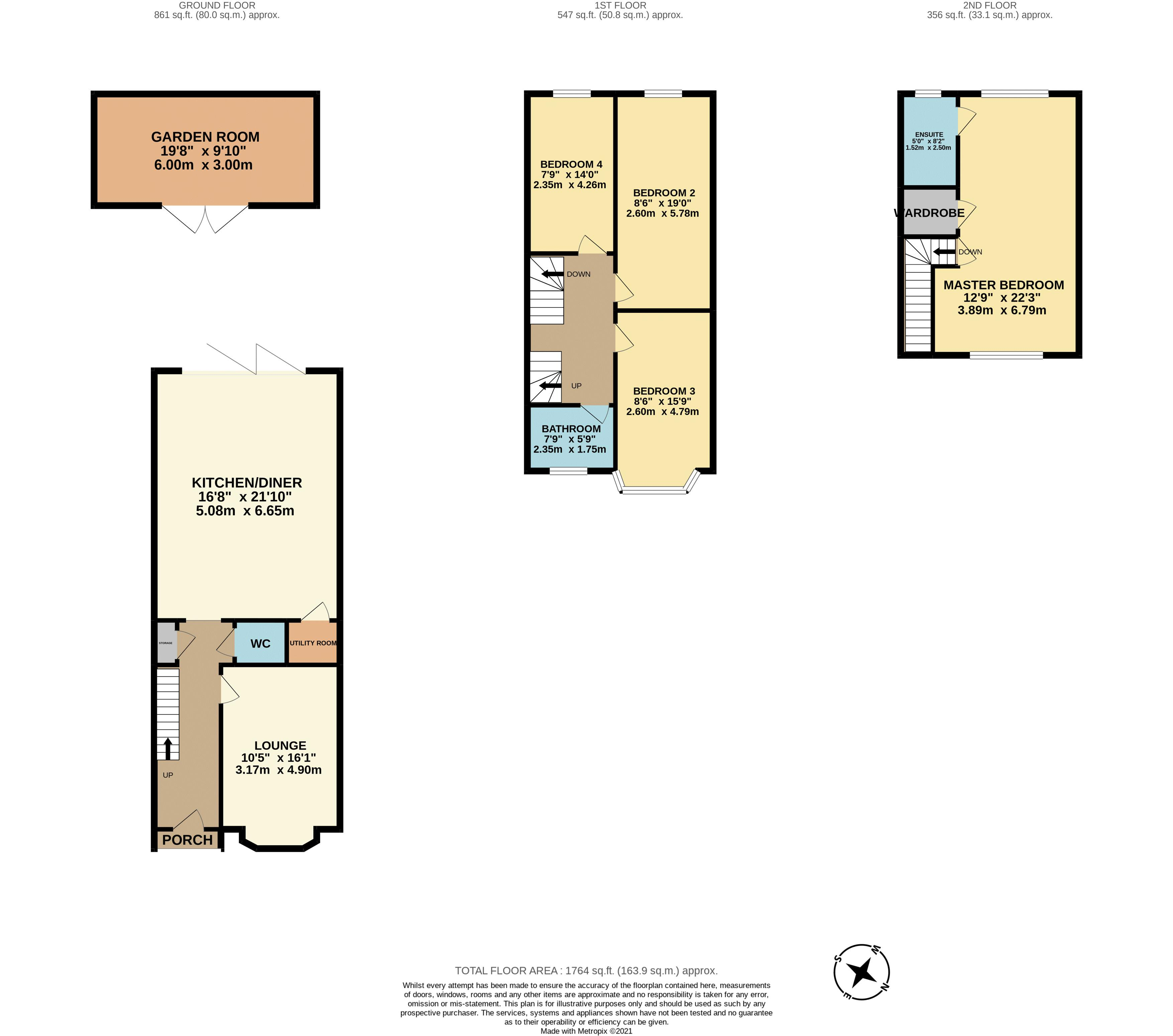 4 bedroom detached house For Sale in Carshalton Beeches - floorplan 1.