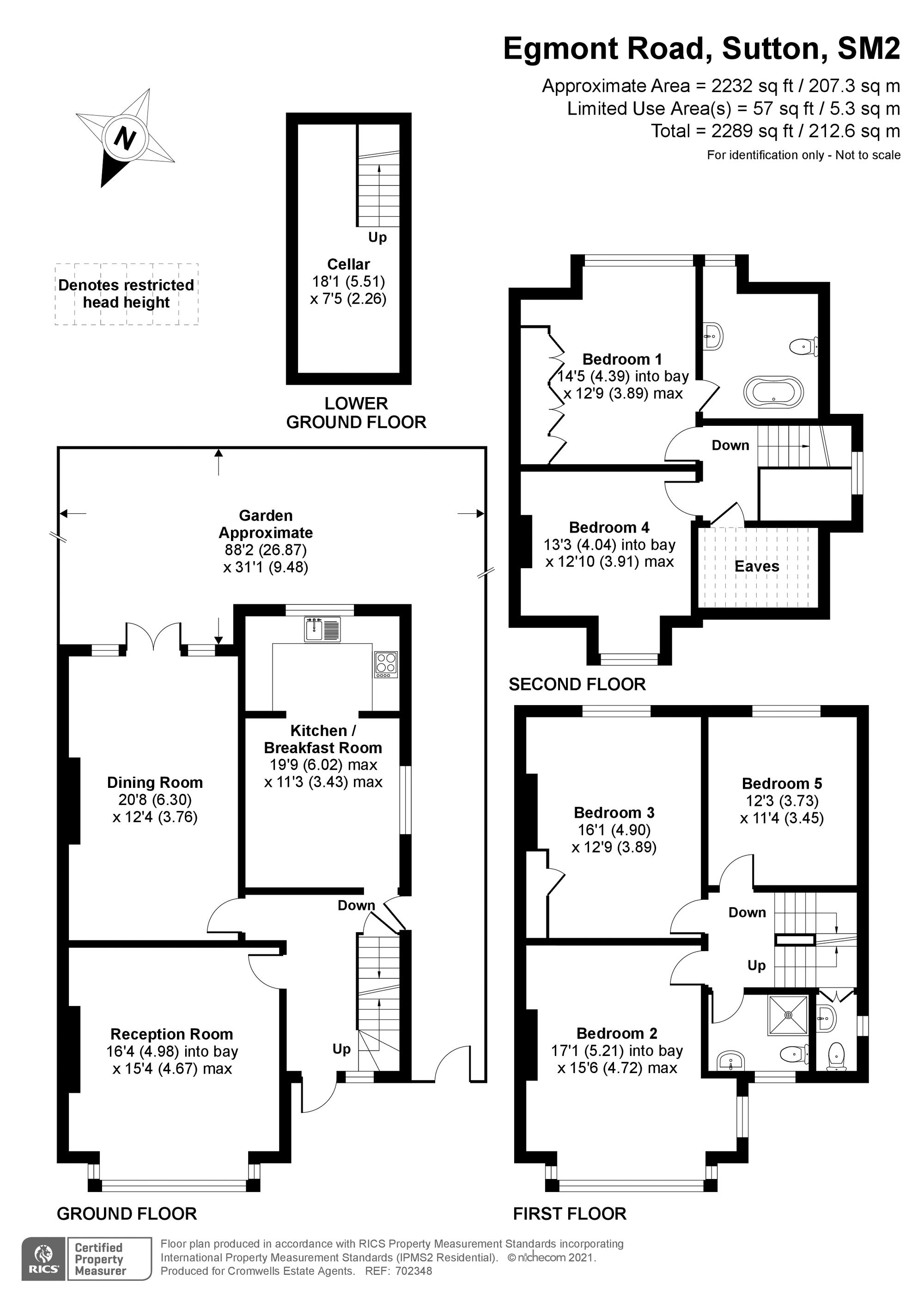 5 bedroom semi detached house SSTC in South Sutton - floorplan 1.