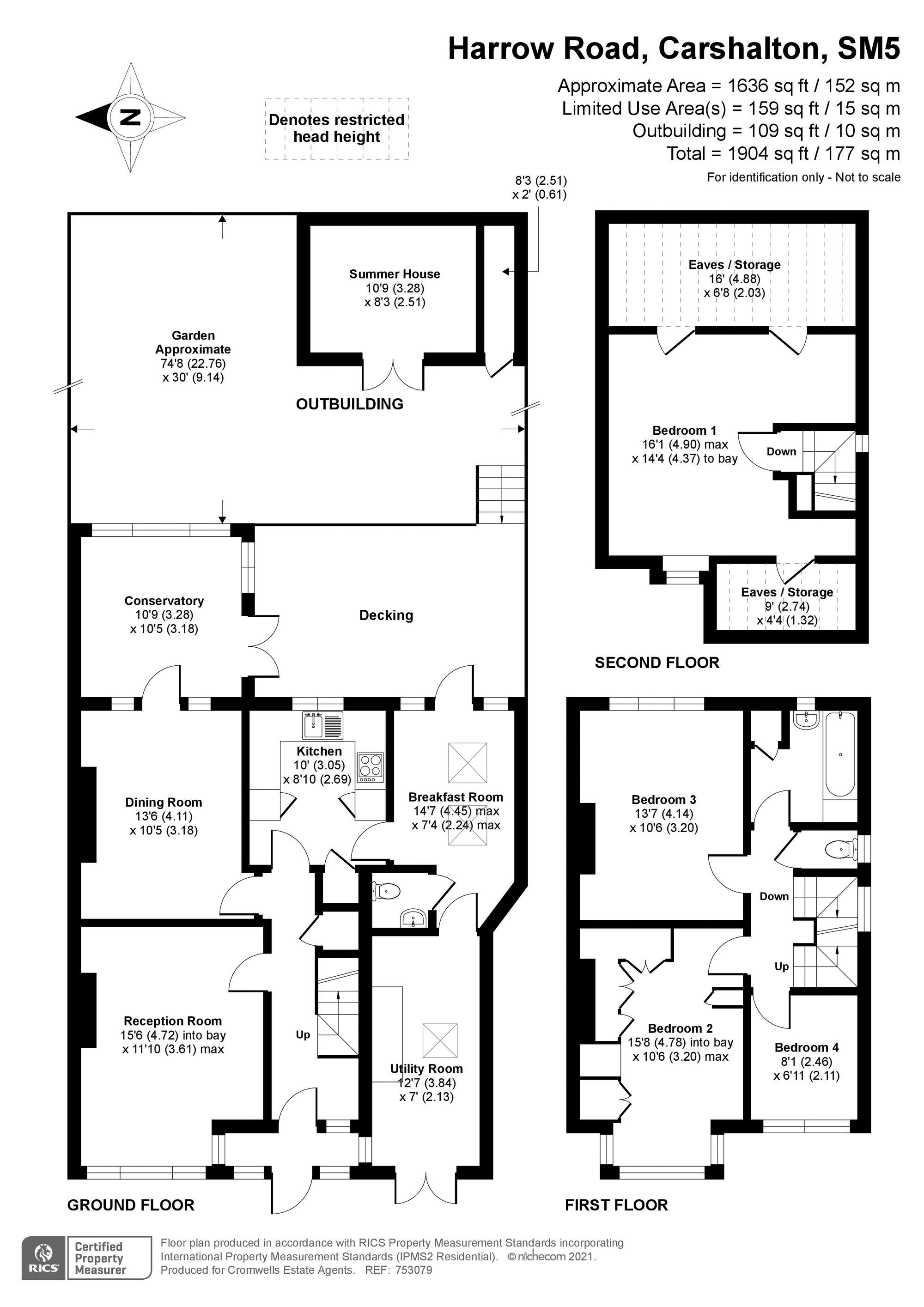 4 bedroom semi detached house SSTC in Carshalton Beeches - floorplan 1.