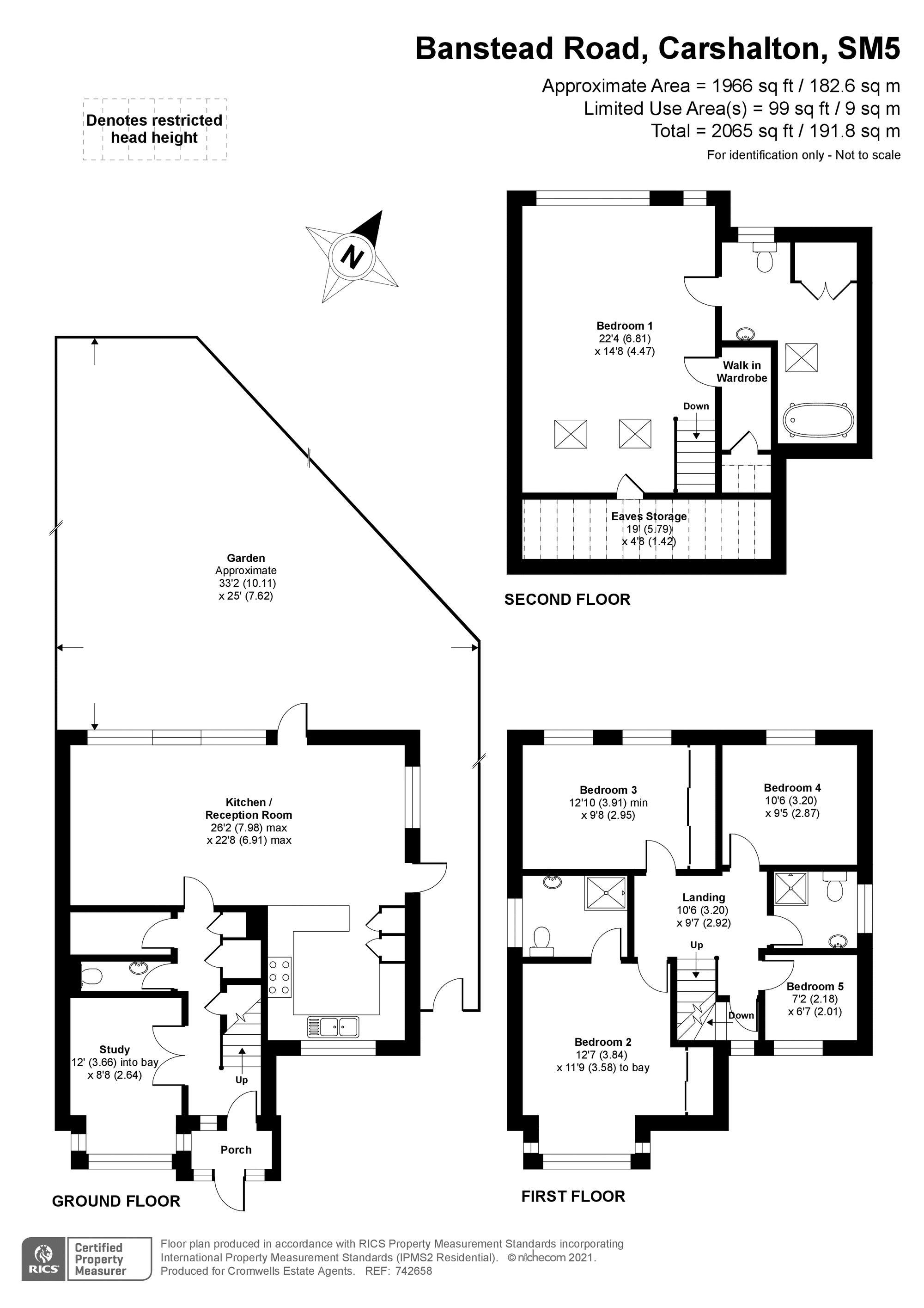 5 bedroom detached house SSTC in Carshalton Beeches - floorplan 1.