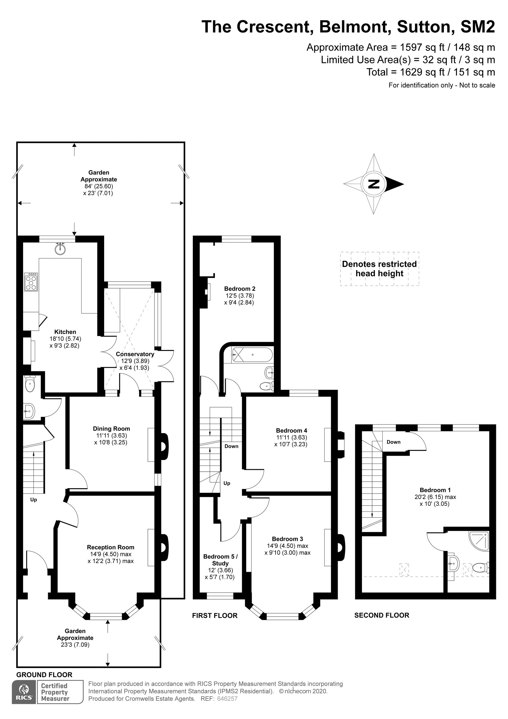 5 bedroom semi detached house For Sale in Sutton - floorplan 1.