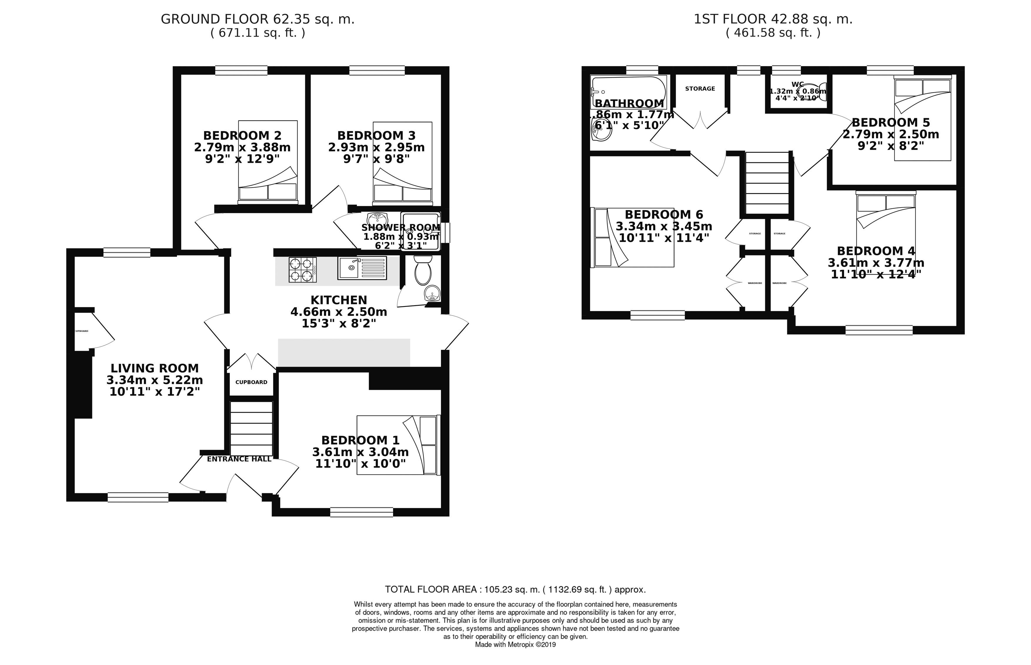 Floor plans for Hillside, Brighton property for sale in Bevendean, Brighton by Coapt
