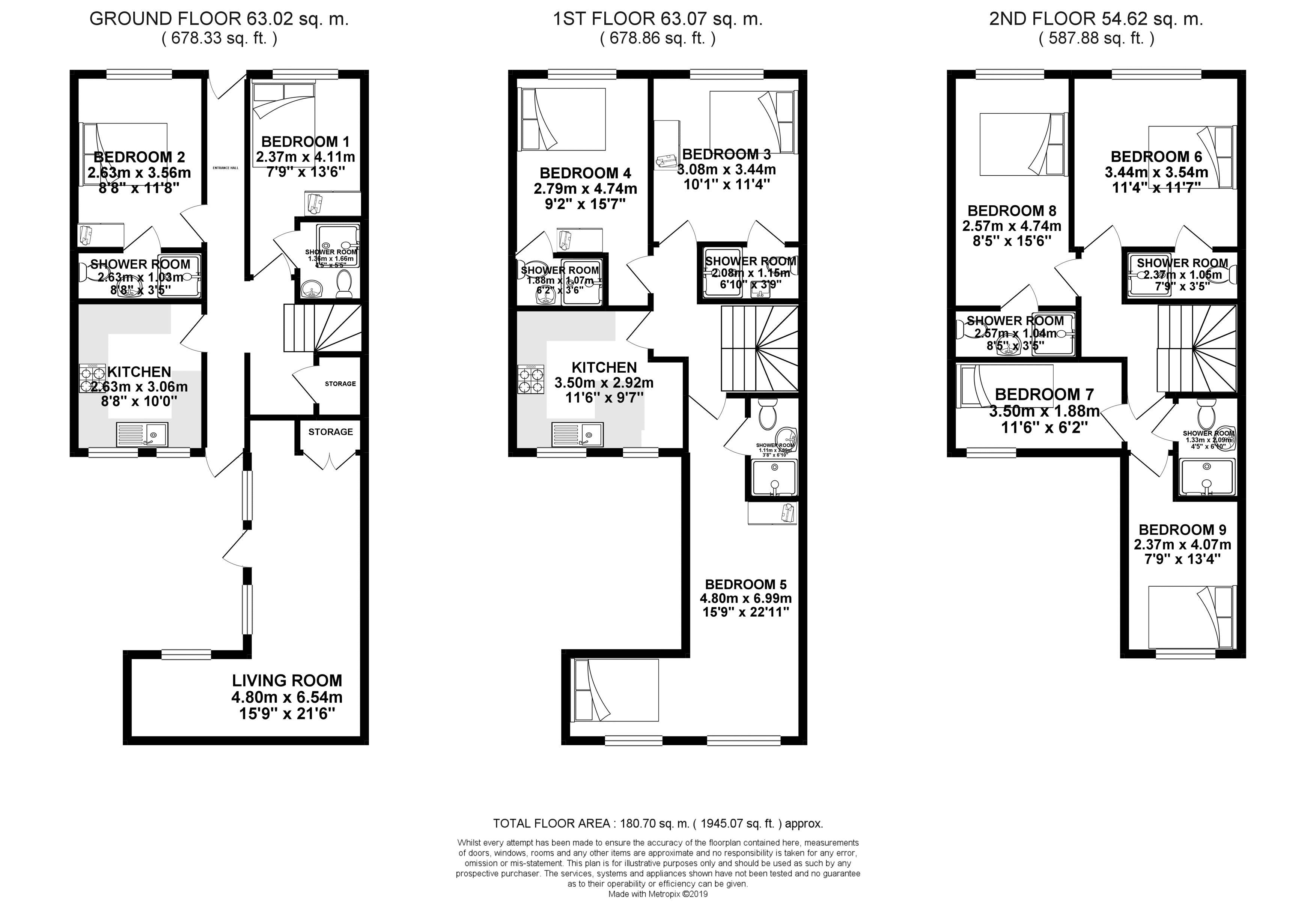 Floor plans for Upper Lewes Road, Brighton property for sale in Lewes Road South, Brighton by Coapt