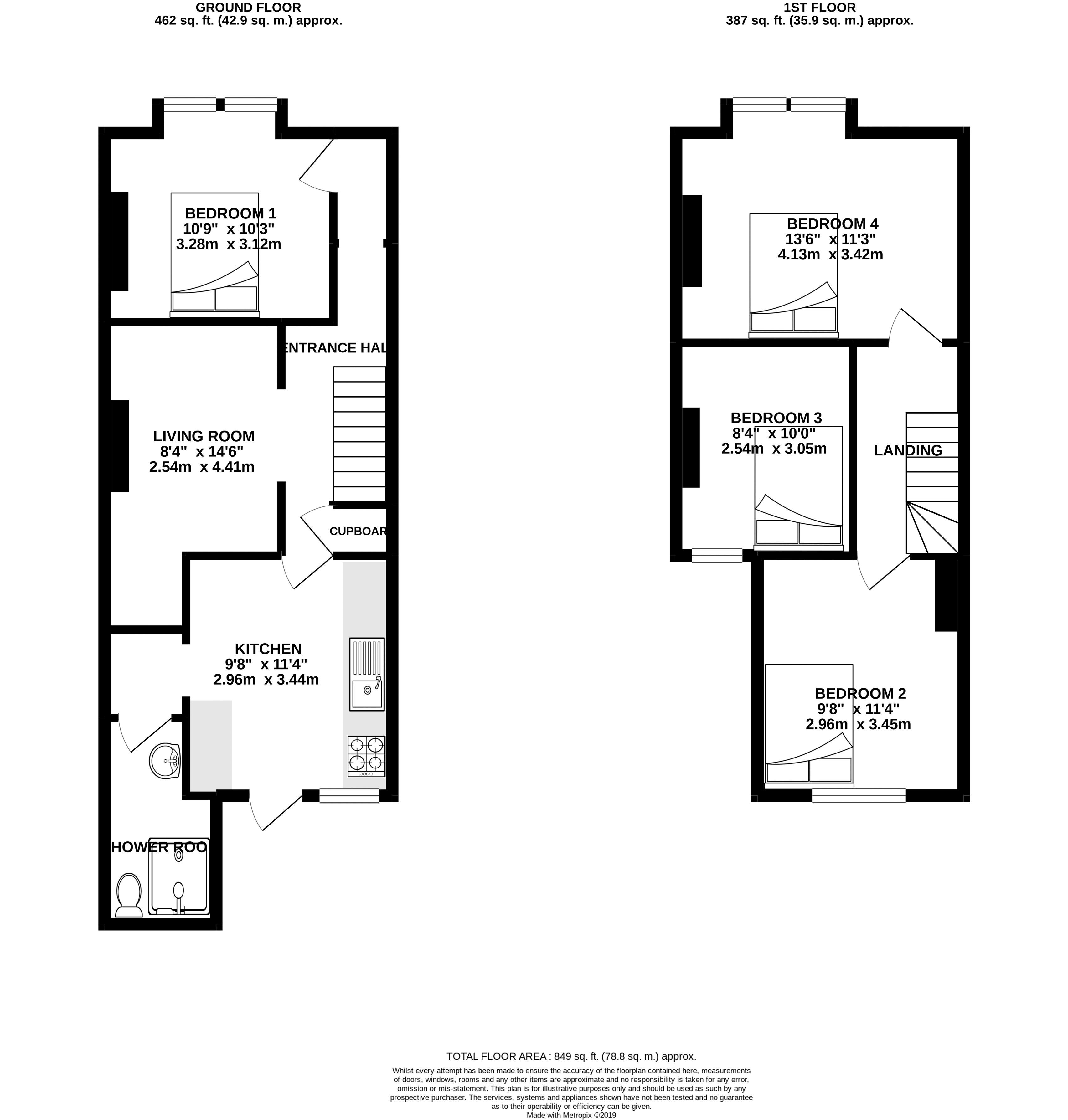 Floor plans for Coombe Terrace, Brighton property for sale in Lewes Road South, Brighton by Coapt
