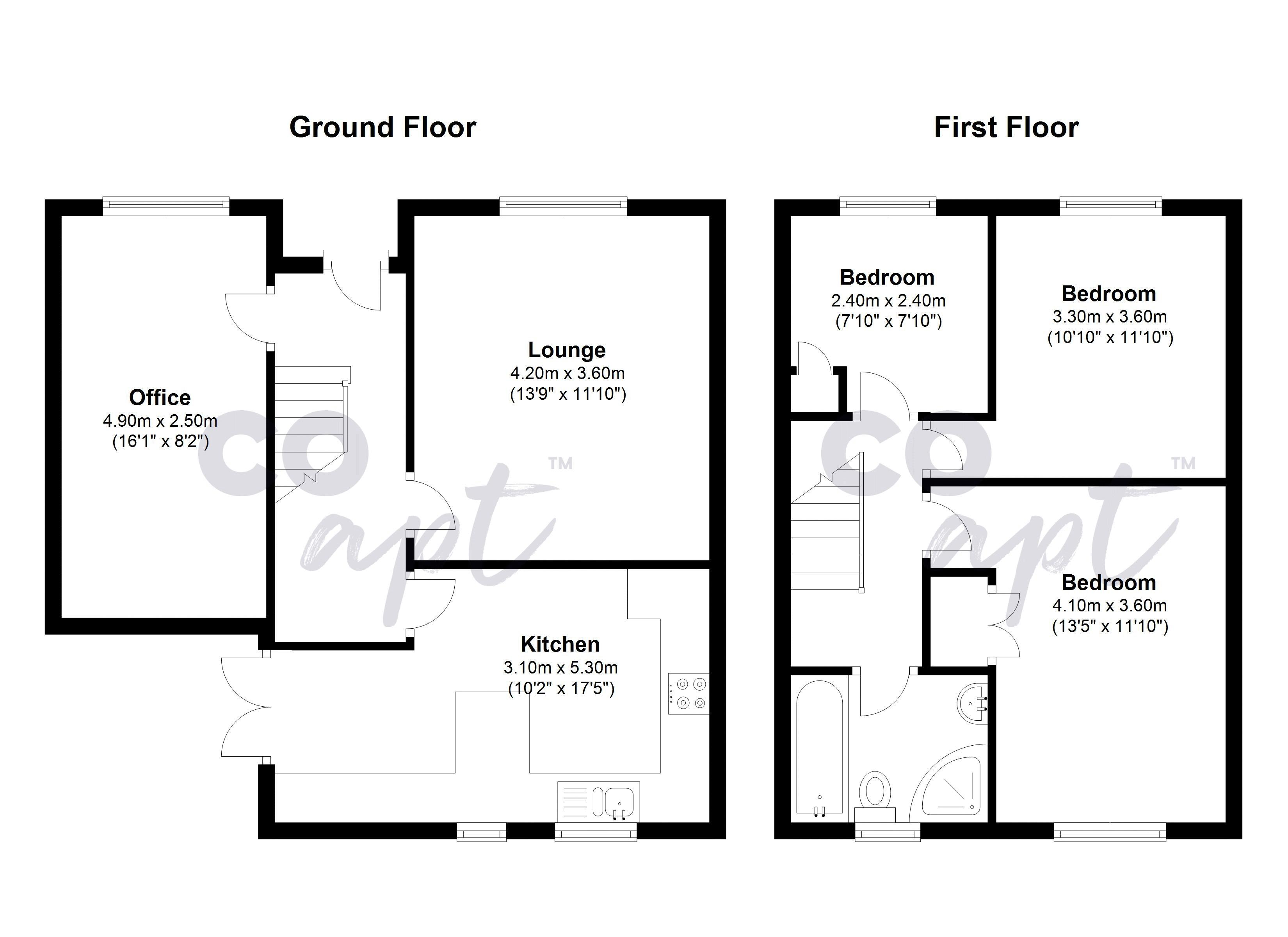 Floor plans for May Road, Brighton property for sale in Elm Grove, Brighton by Coapt