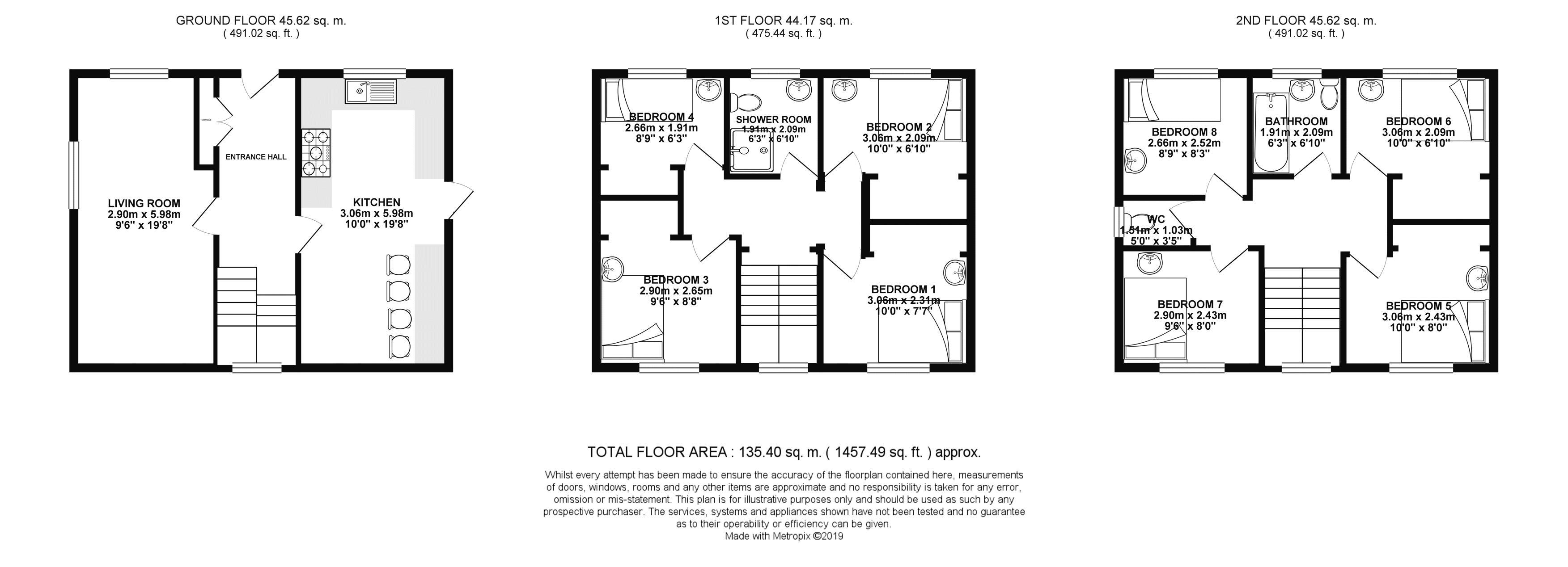 Floor plans for Auckland Drive, Brighton property for sale in Bevendean, Brighton by Coapt