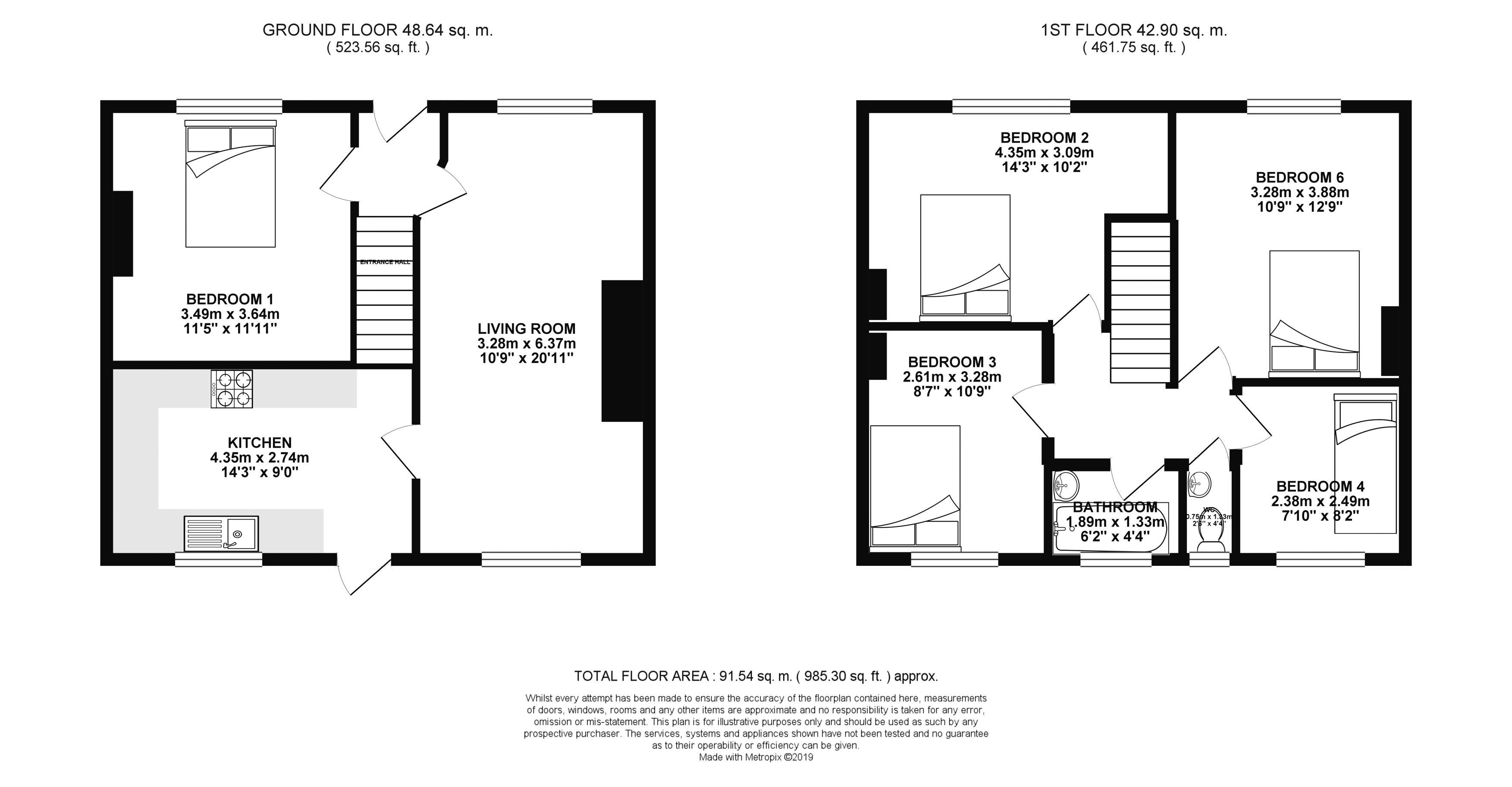 Floor plans for Southall Avenue, Brighton property for sale in Bevendean, Brighton by Coapt