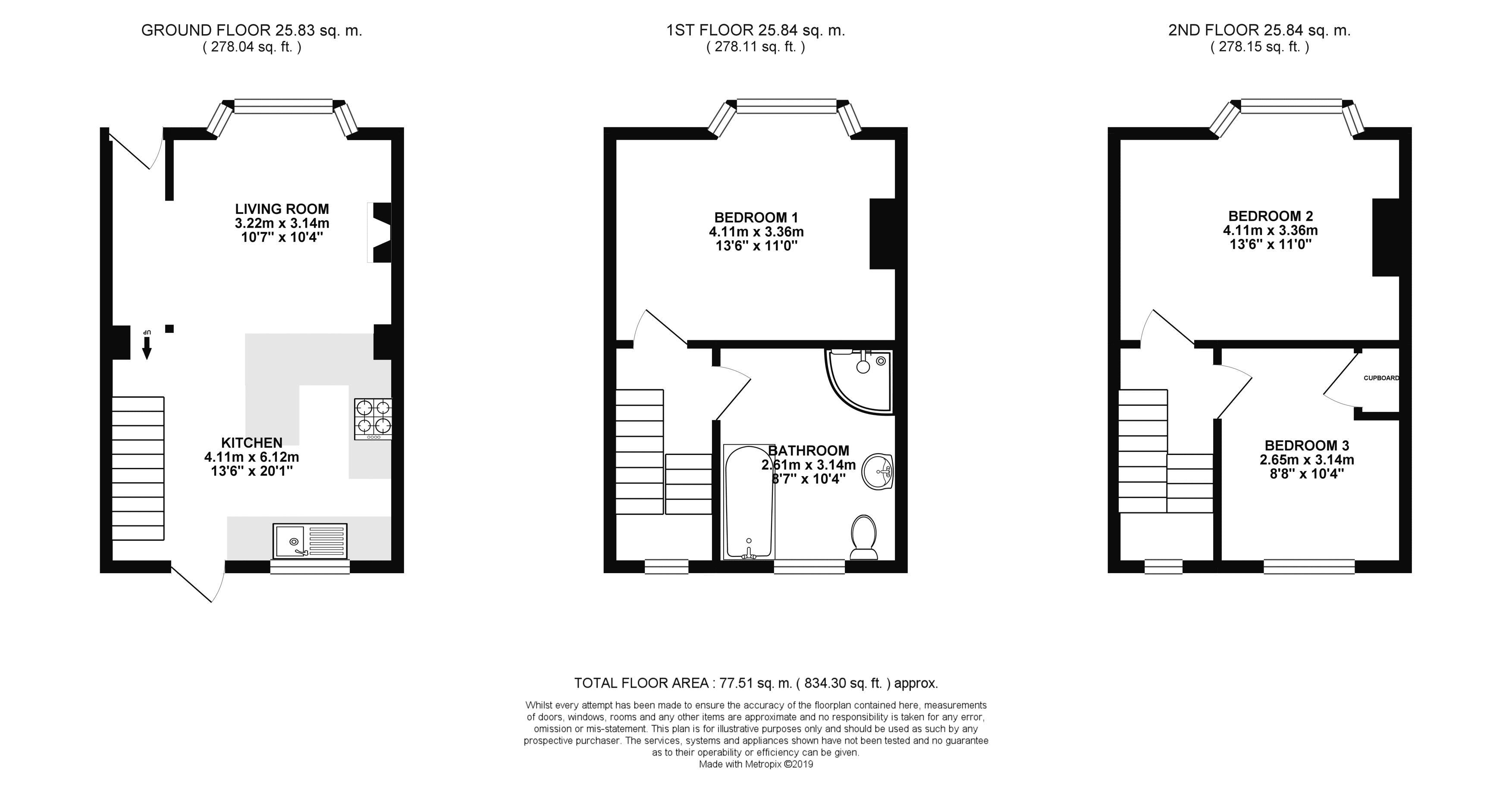 Floor plans for St. Martins Place, Brighton property for sale in Lewes Road South, Brighton by Coapt