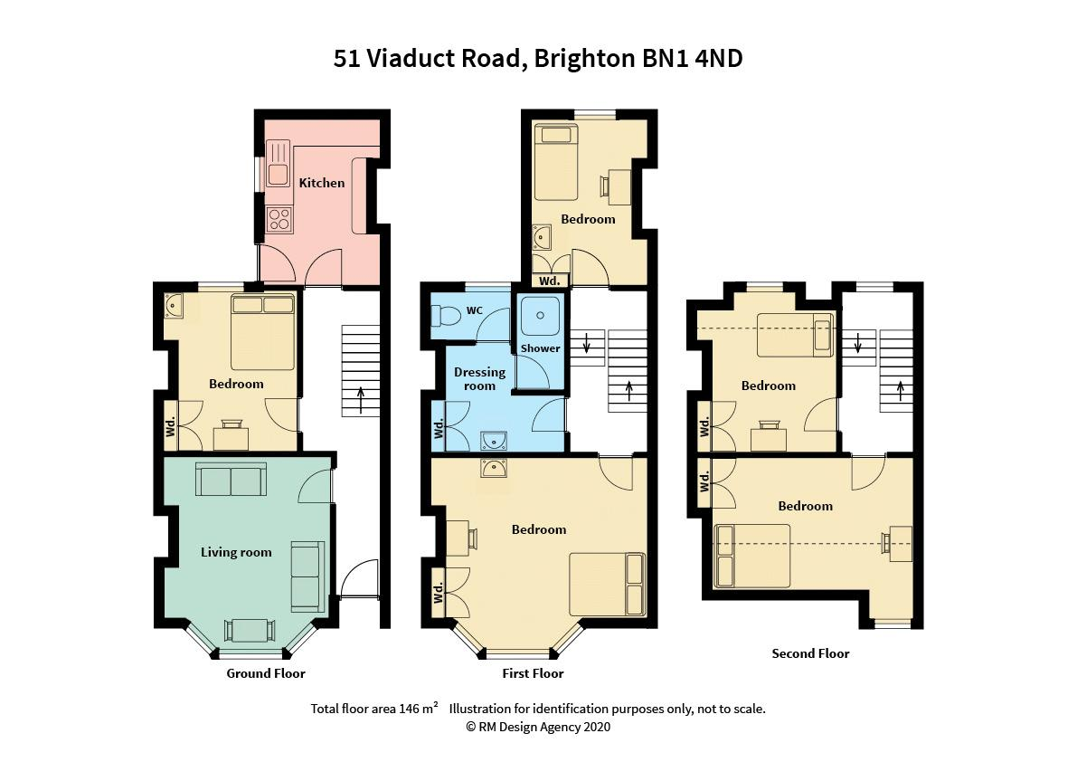 Floor plans for Viaduct Road, Brighton property for sale in London Road, Brighton by Coapt
