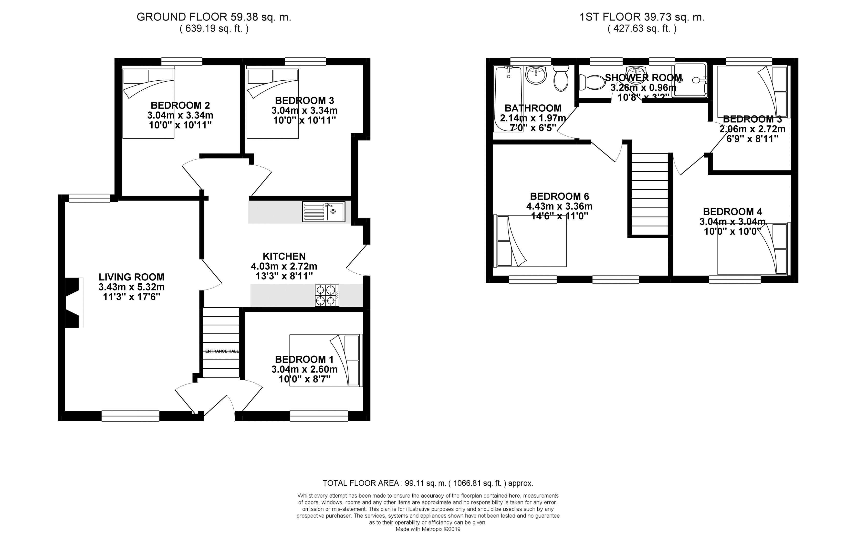 Floor plans for Southall Avenue, Brighton property for sale in Lewes Road North, Brighton by Coapt