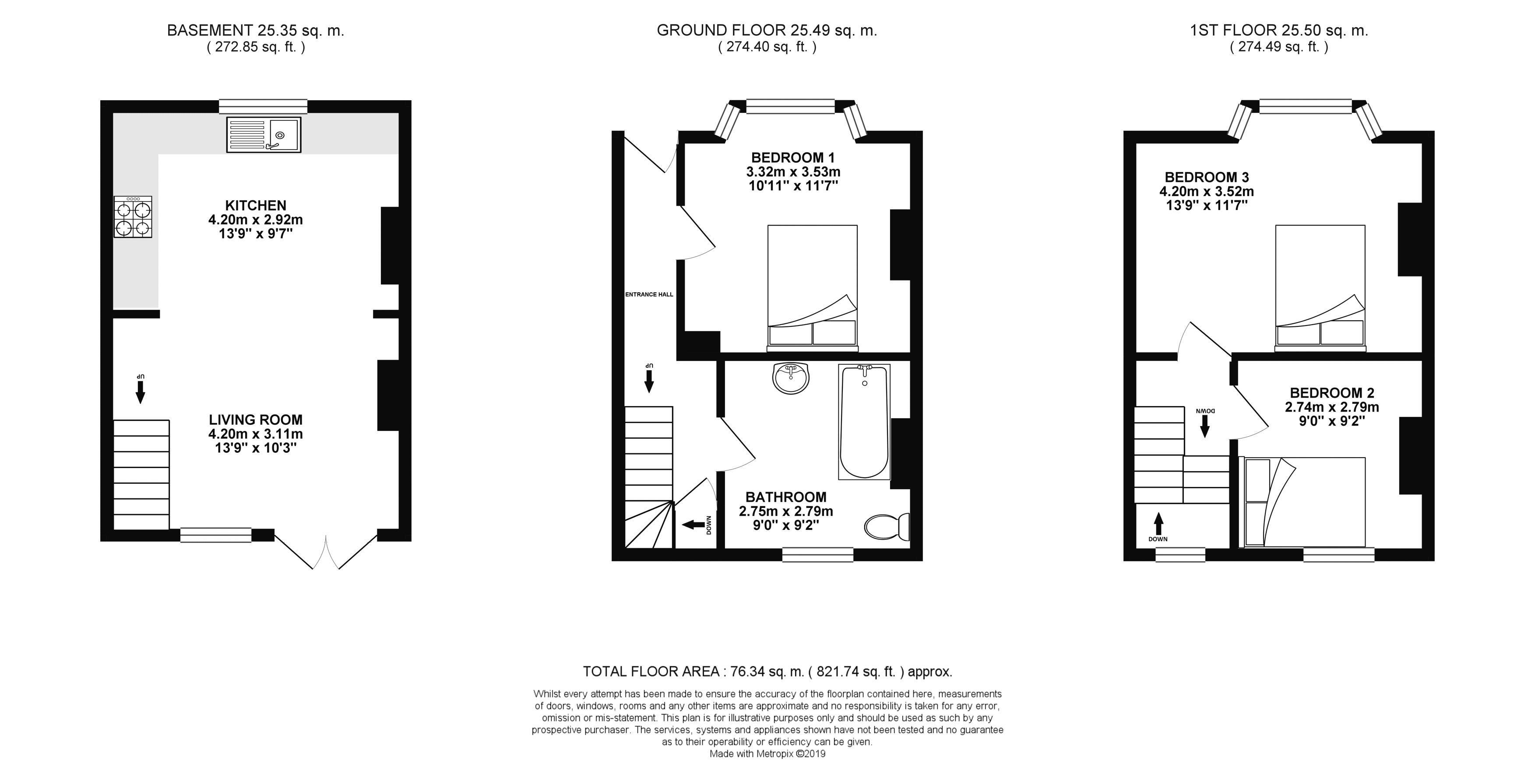 Floor plans for Edinburgh Road, Brighton property for sale in Lewes Road South, Brighton by Coapt