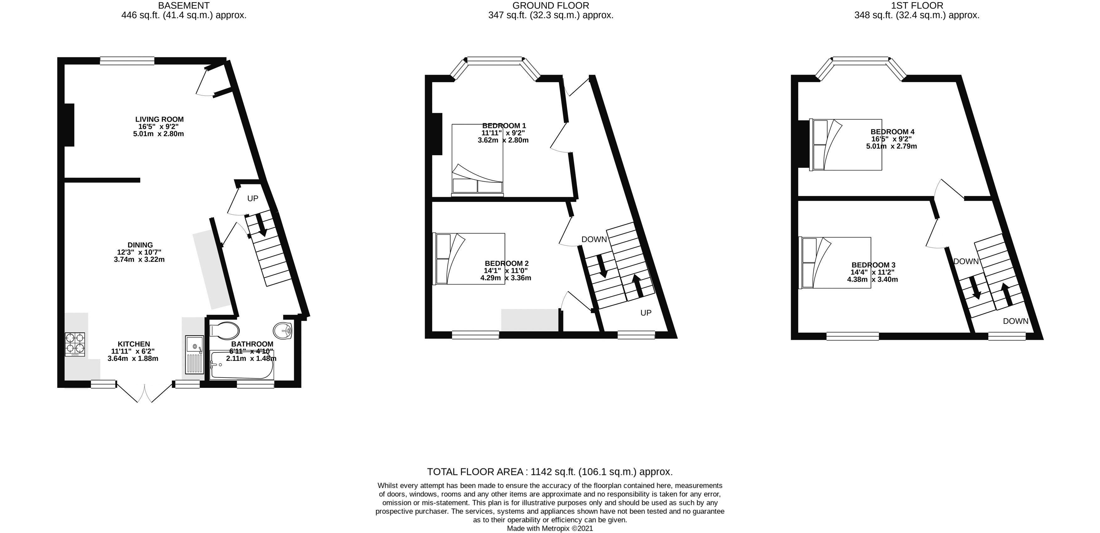 Floor plans for Park Crescent Road , Brighton property for sale in Lewes Road South, Brighton by Coapt