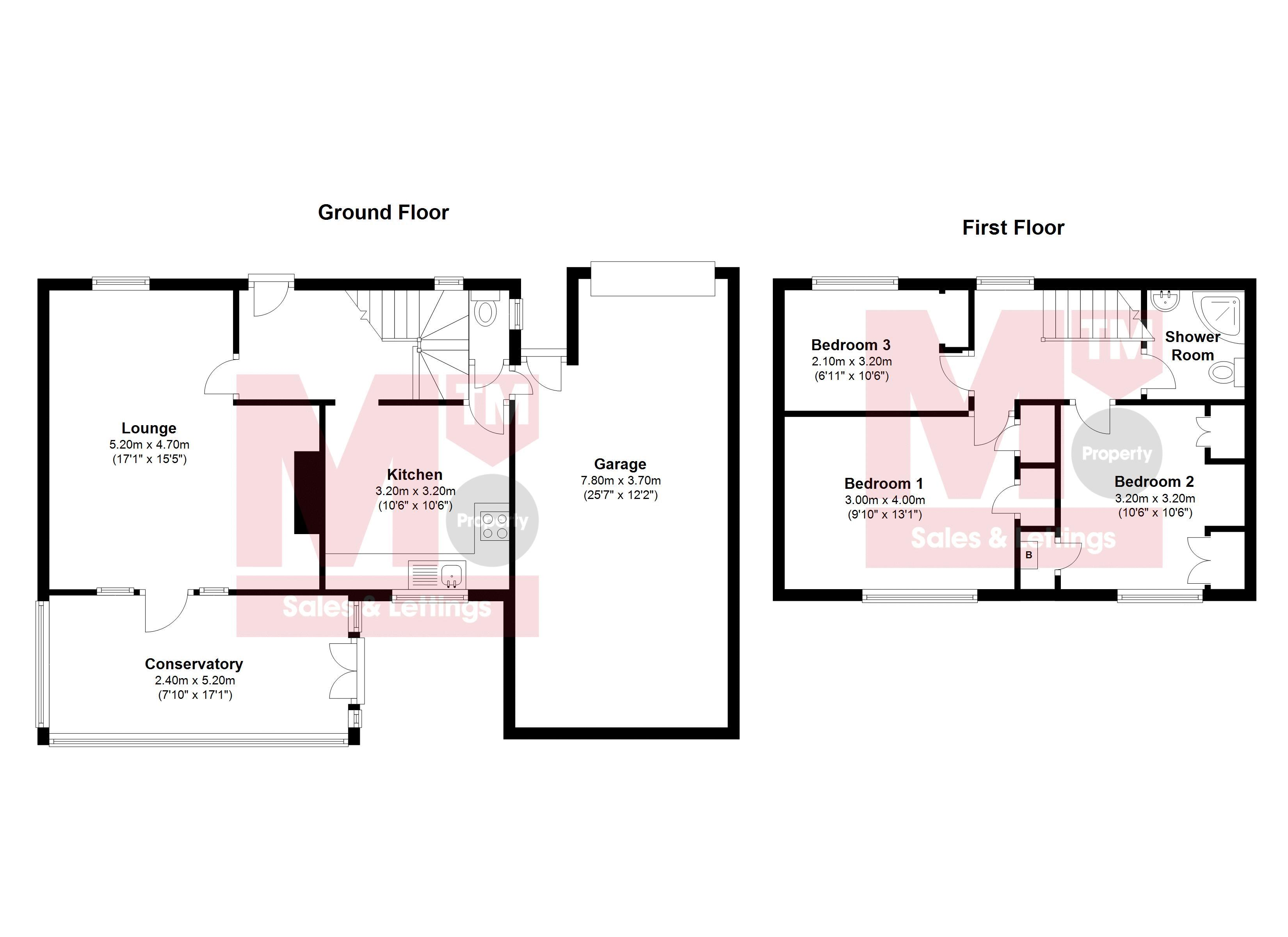 Floor plans for Heath Hill Avenue, Brighton property for sale in Bevendean, Brighton by Coapt
