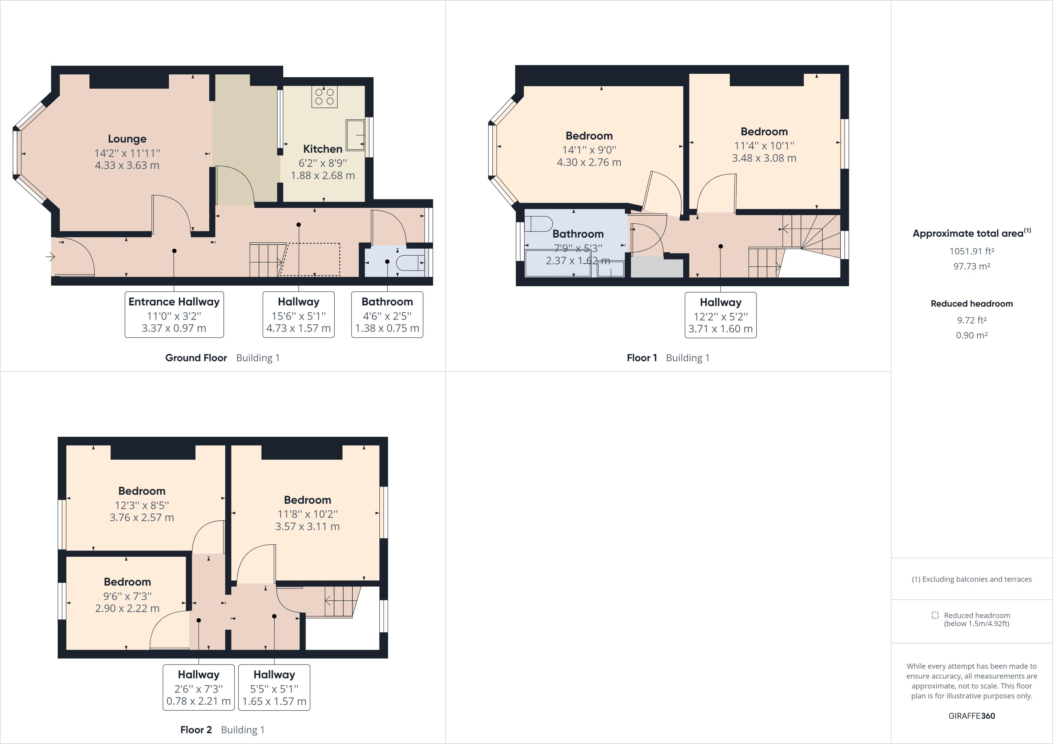 Floor plans for Vere Road, Brighton property for sale in London Road, Brighton by Coapt