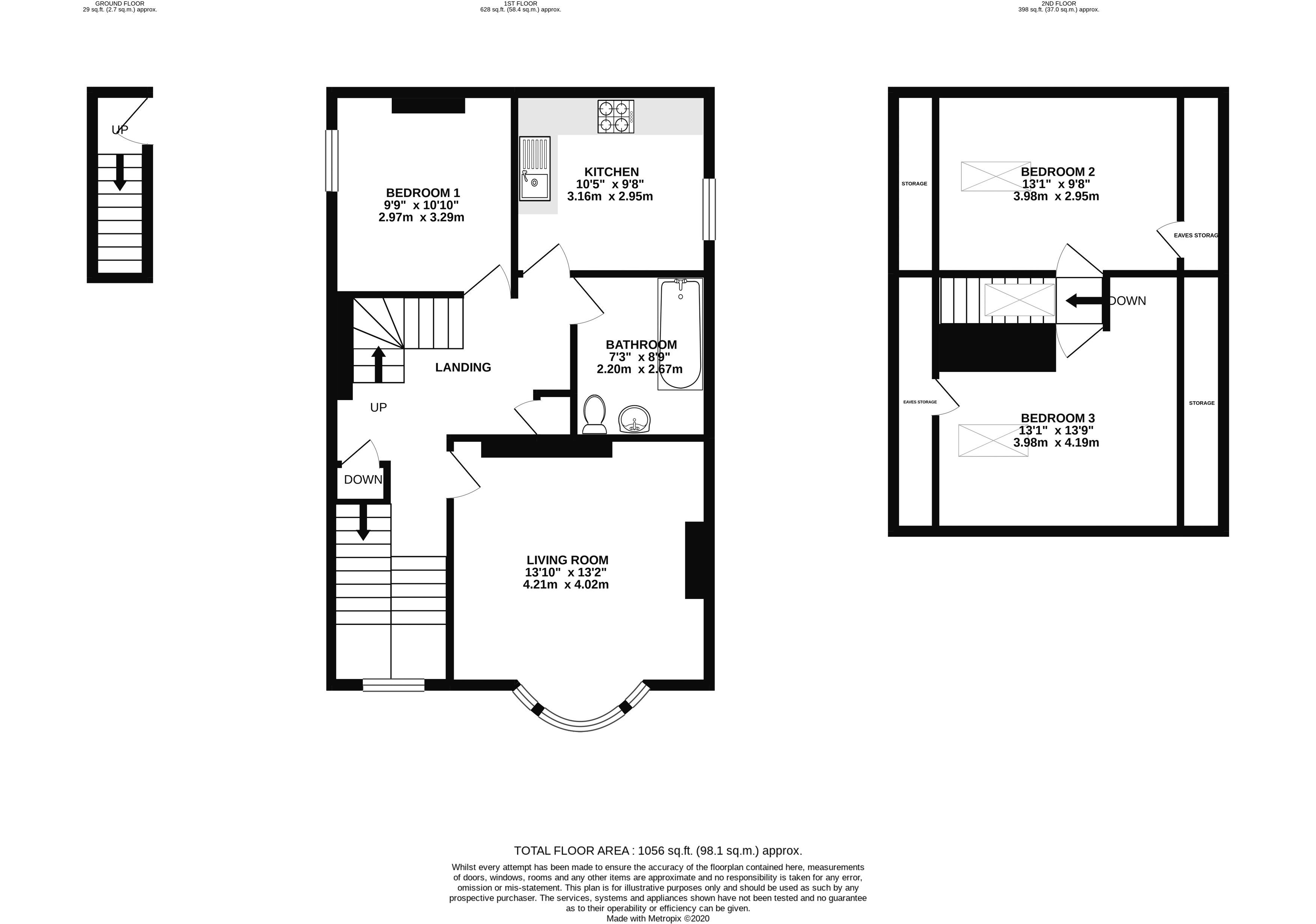 Floor plans for Middle Street, Brighton property for sale in Central Brighton, Brighton by Coapt