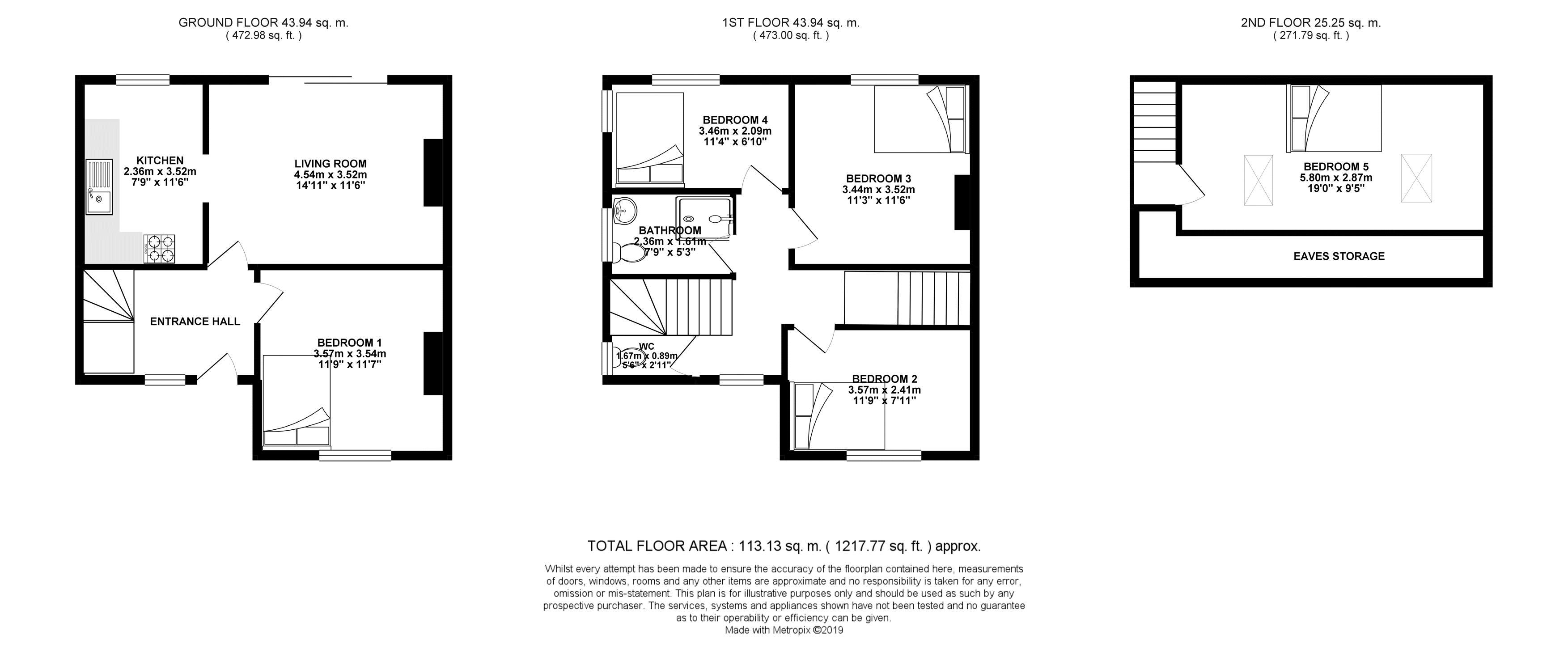 Floor plans for Barcombe Road, Brighton property for sale in Moulsecoomb, Brighton by Coapt