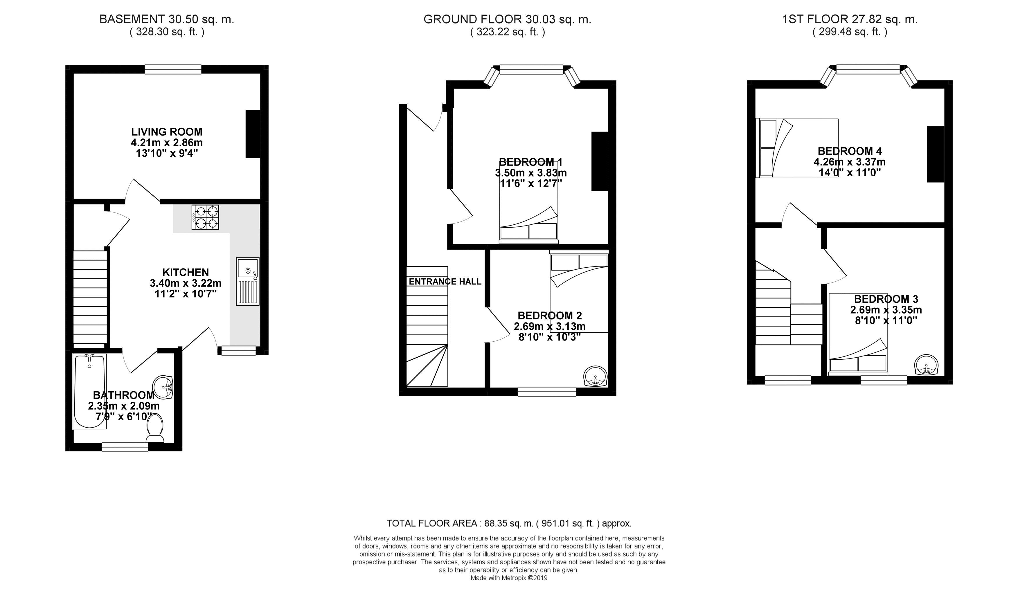 Floor plans for St. Pauls Street, Brighton property for sale in Lewes Road South, Brighton by Coapt