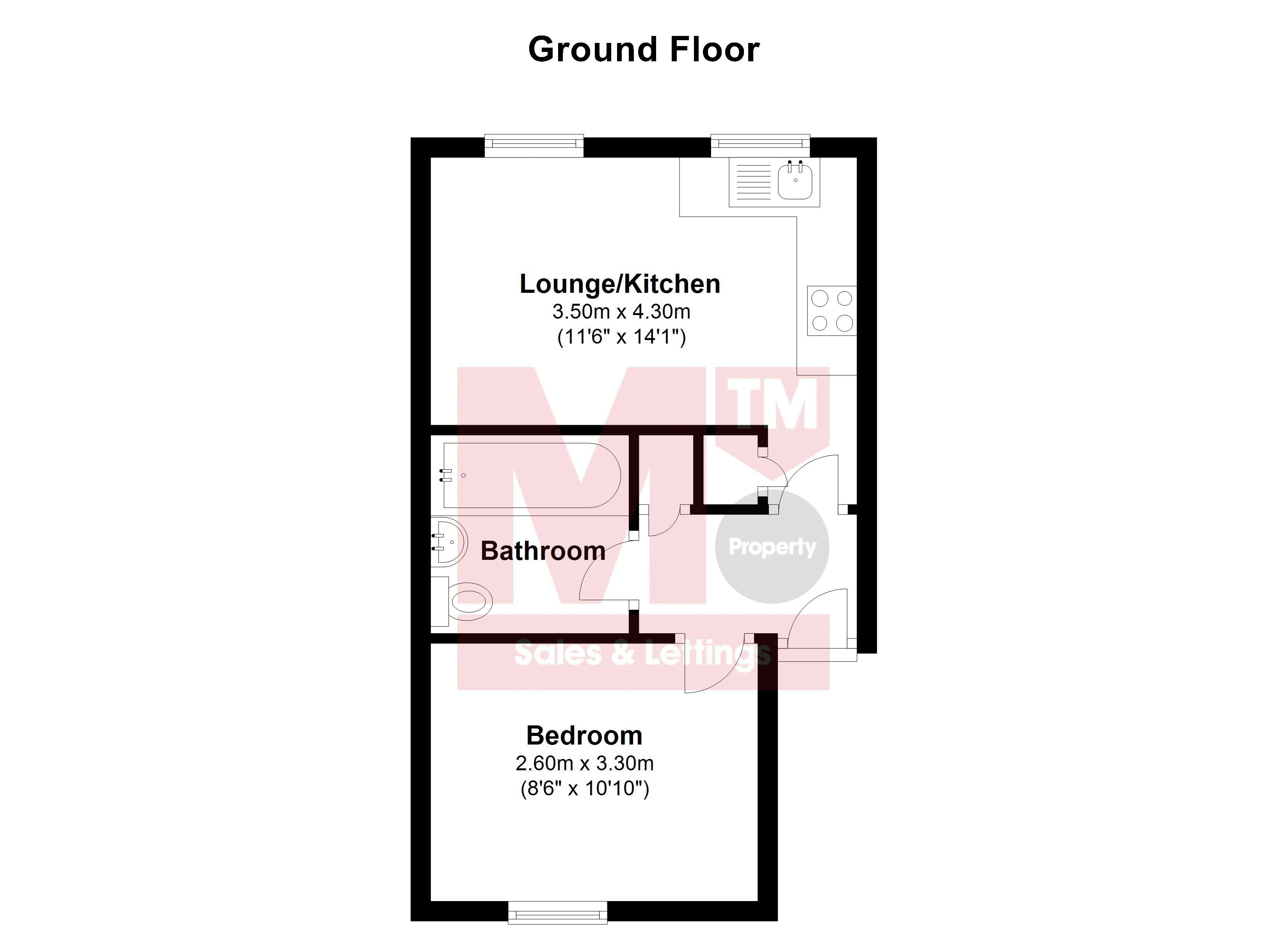 Floor plans for George Street, Brighton property for sale in Kemptown, Brighton by Coapt