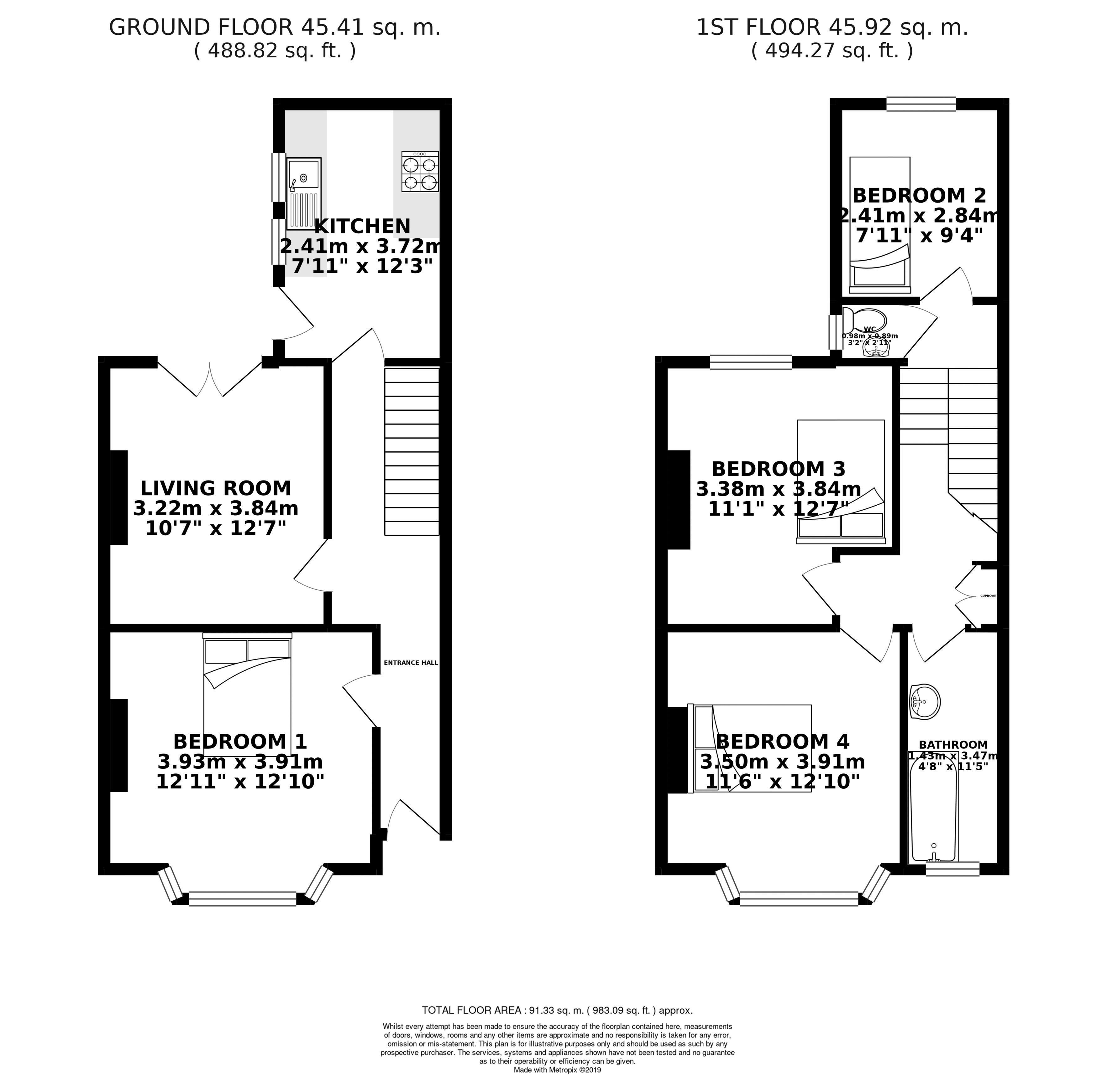 Floor plans for Queens Park Road, Brighton property for sale in Queens Park, Brighton by Coapt