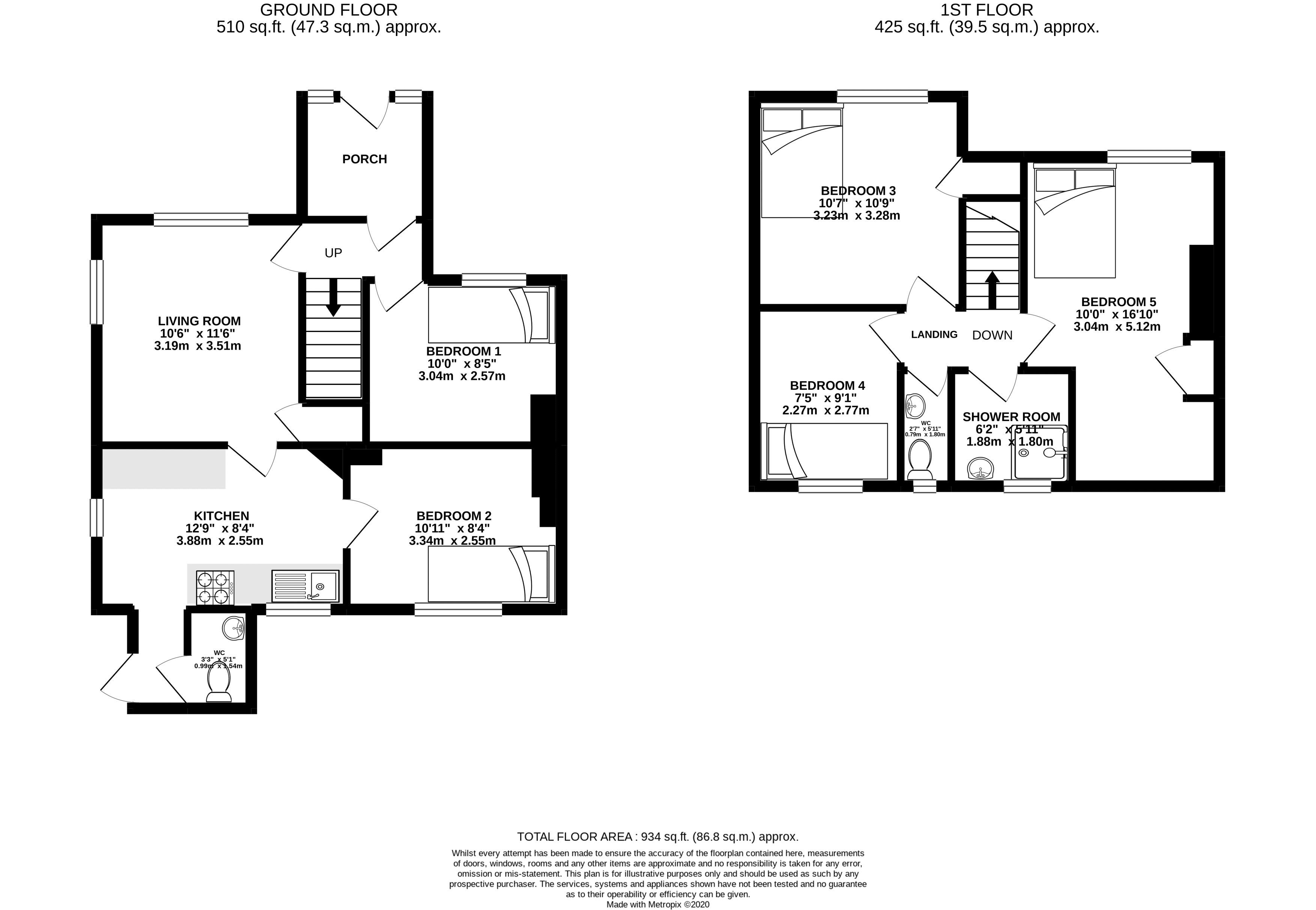 Floor plans for The Avenue, Brighton property for sale in Bevendean, Brighton by Coapt