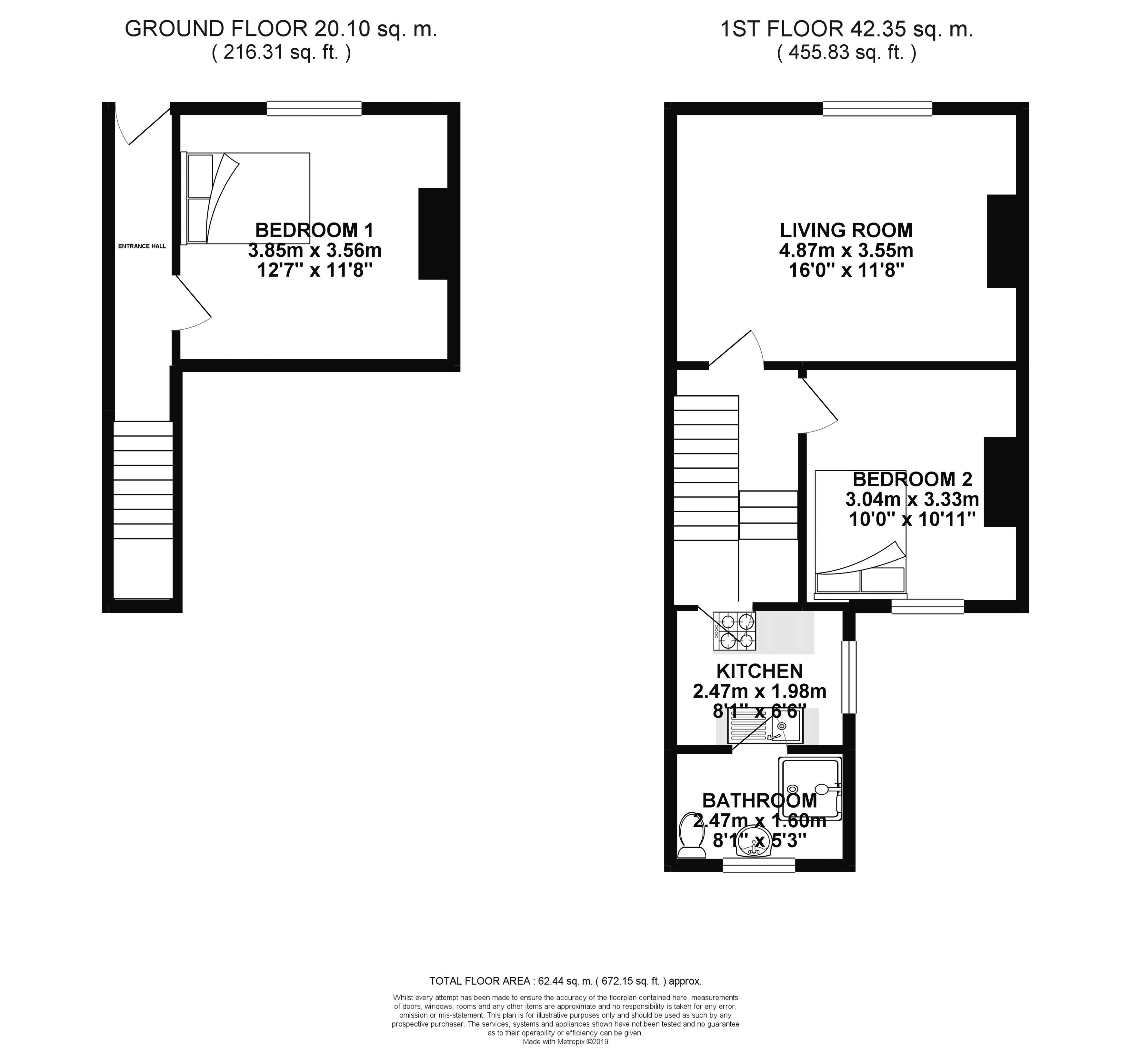 Floor plans for Hollingdean Road, Brighton property for sale in Lewes Road South, Brighton by Coapt