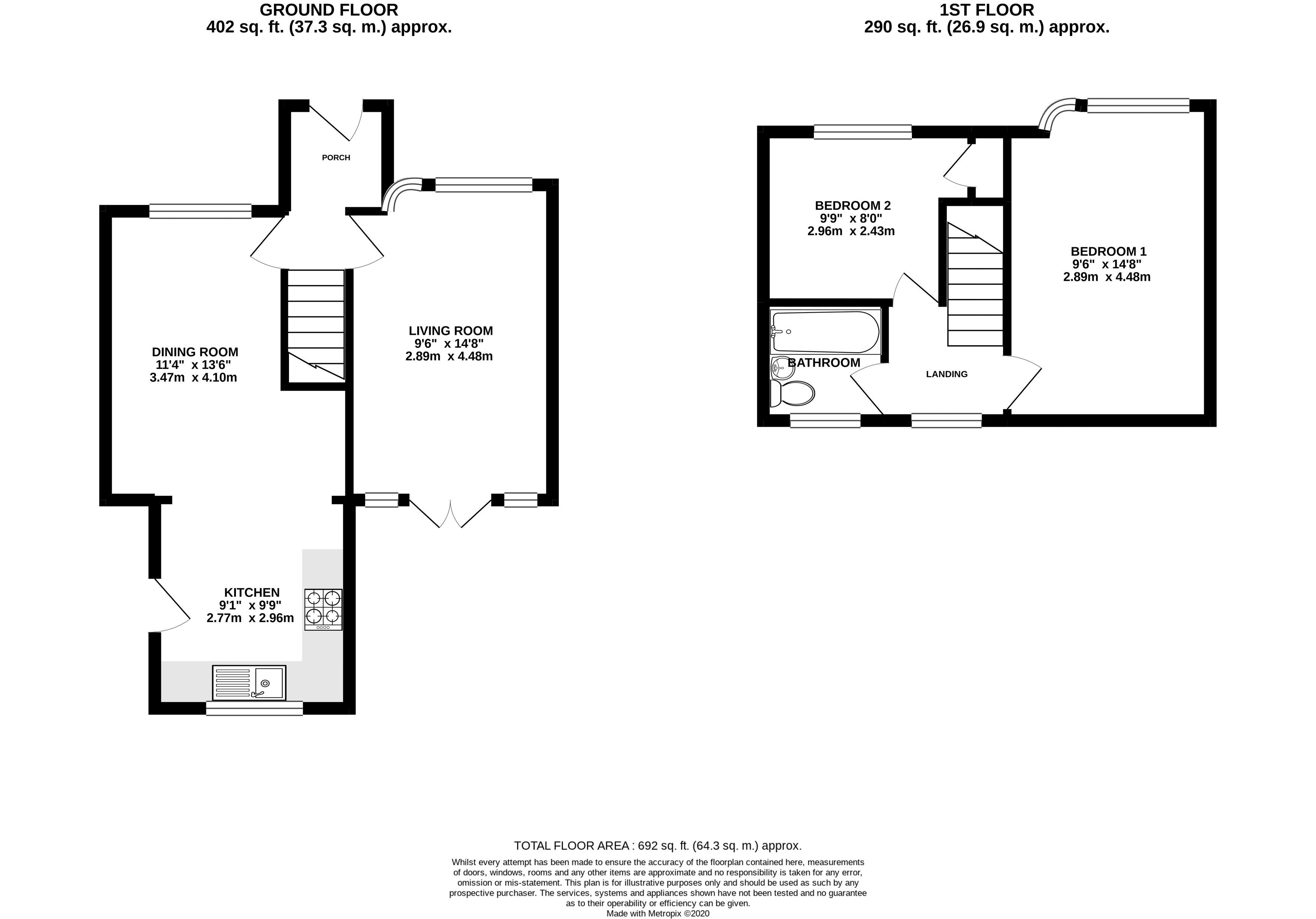 Floor plans for Tangmere Road, Brighton property for sale in Patcham, Brighton by Coapt
