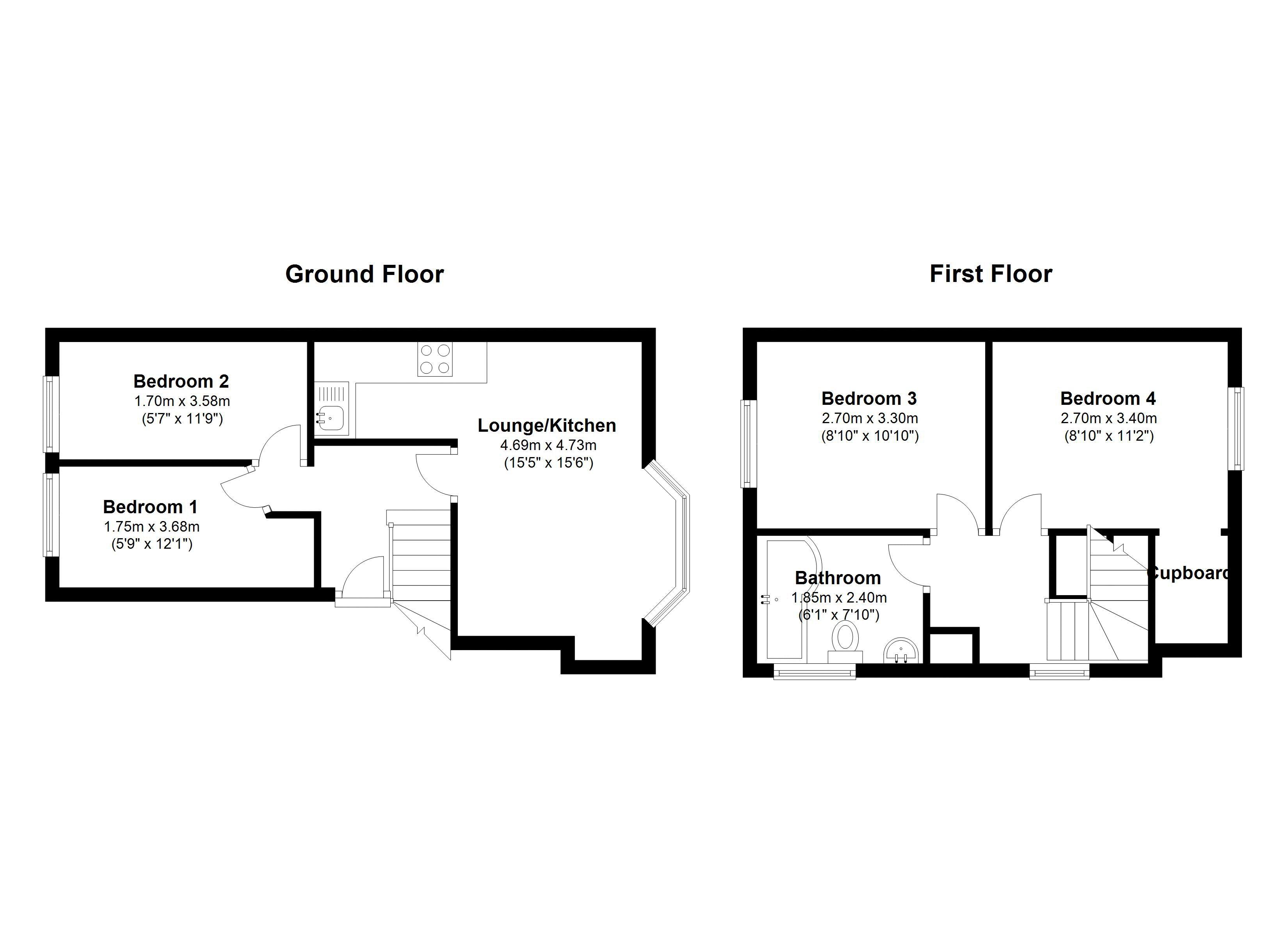 Floor plans for Ditchling Road, Brighton property for sale in London Road, Brighton by Coapt