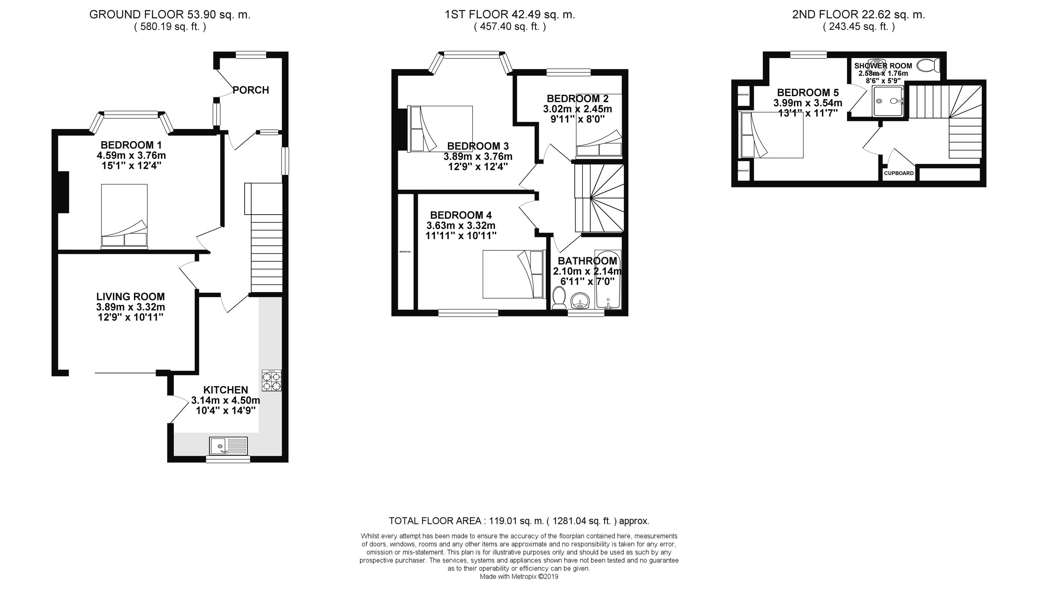 Floor plans for Medmerry Hill, Brighton property for sale in Moulsecoomb, Brighton by Coapt