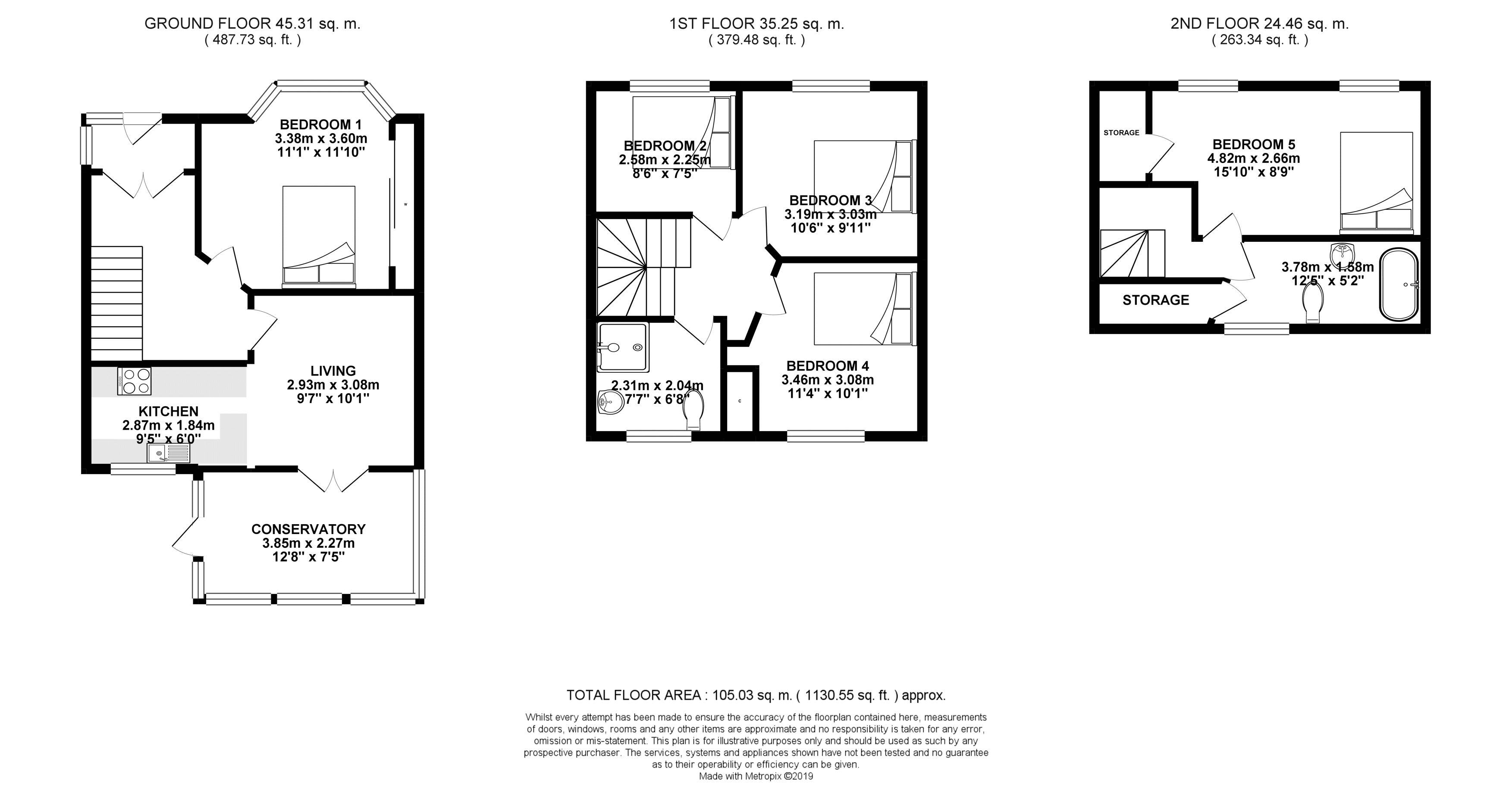 Floor plans for Widdicombe Way, Brighton property for sale in Bevendean, Brighton by Coapt
