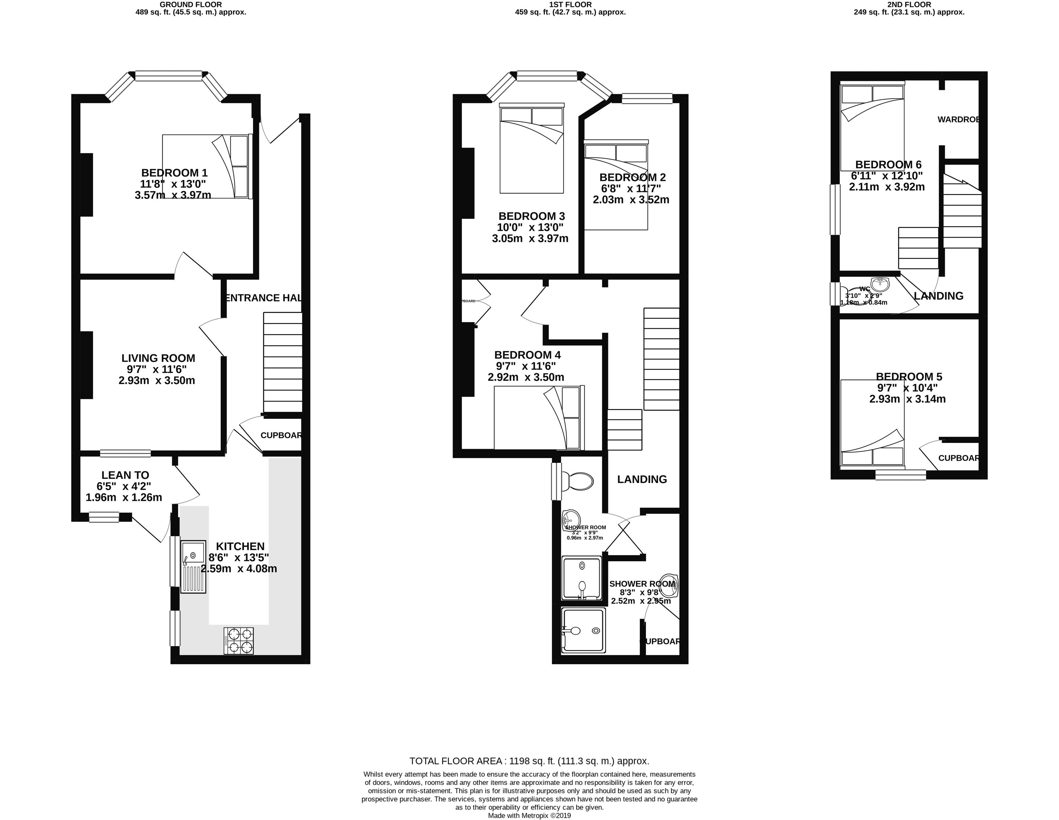 Floor plans for Cobden Road, Brighton property for sale in Hanover, Brighton by Coapt