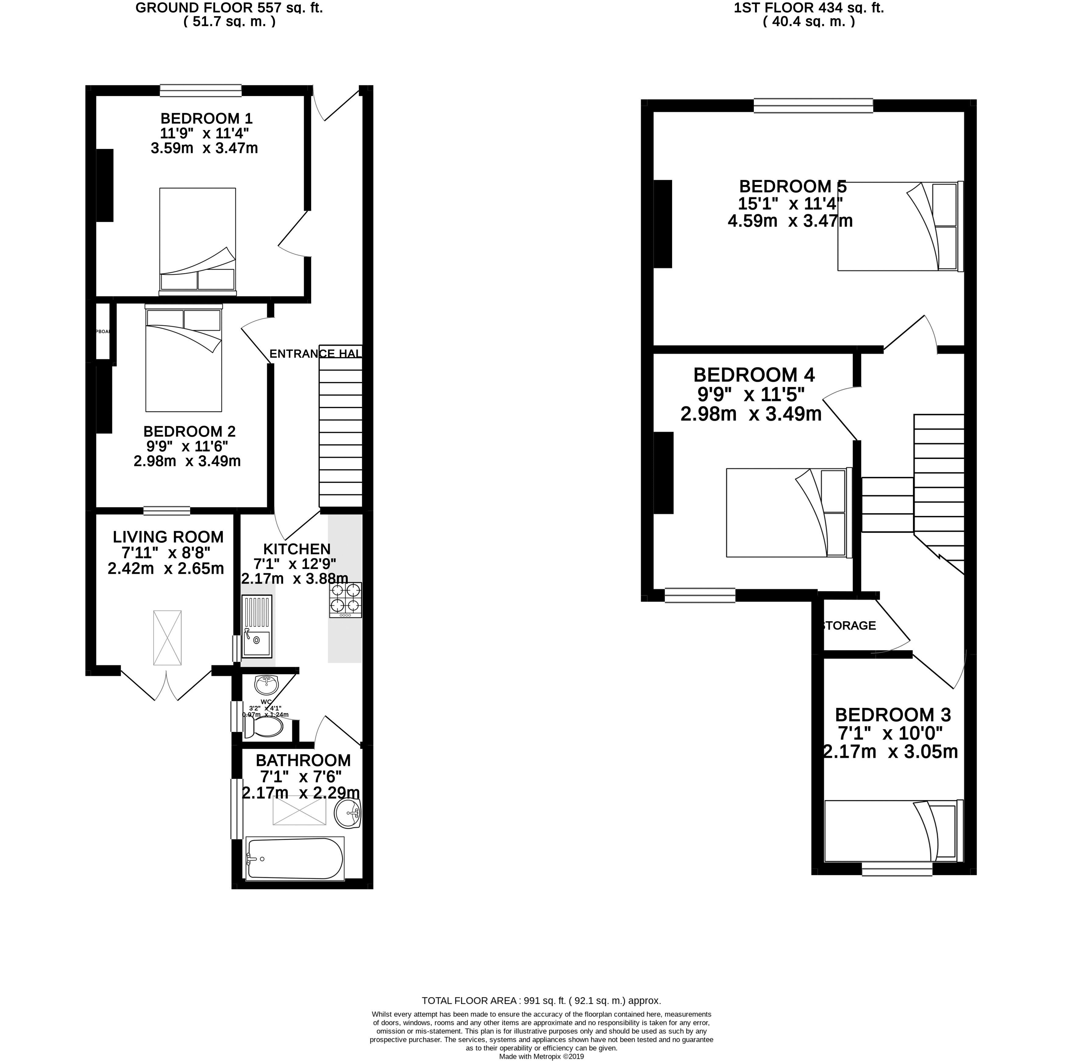 Floor plans for Brading Road, Brighton property for sale in Hanover, Brighton by Coapt