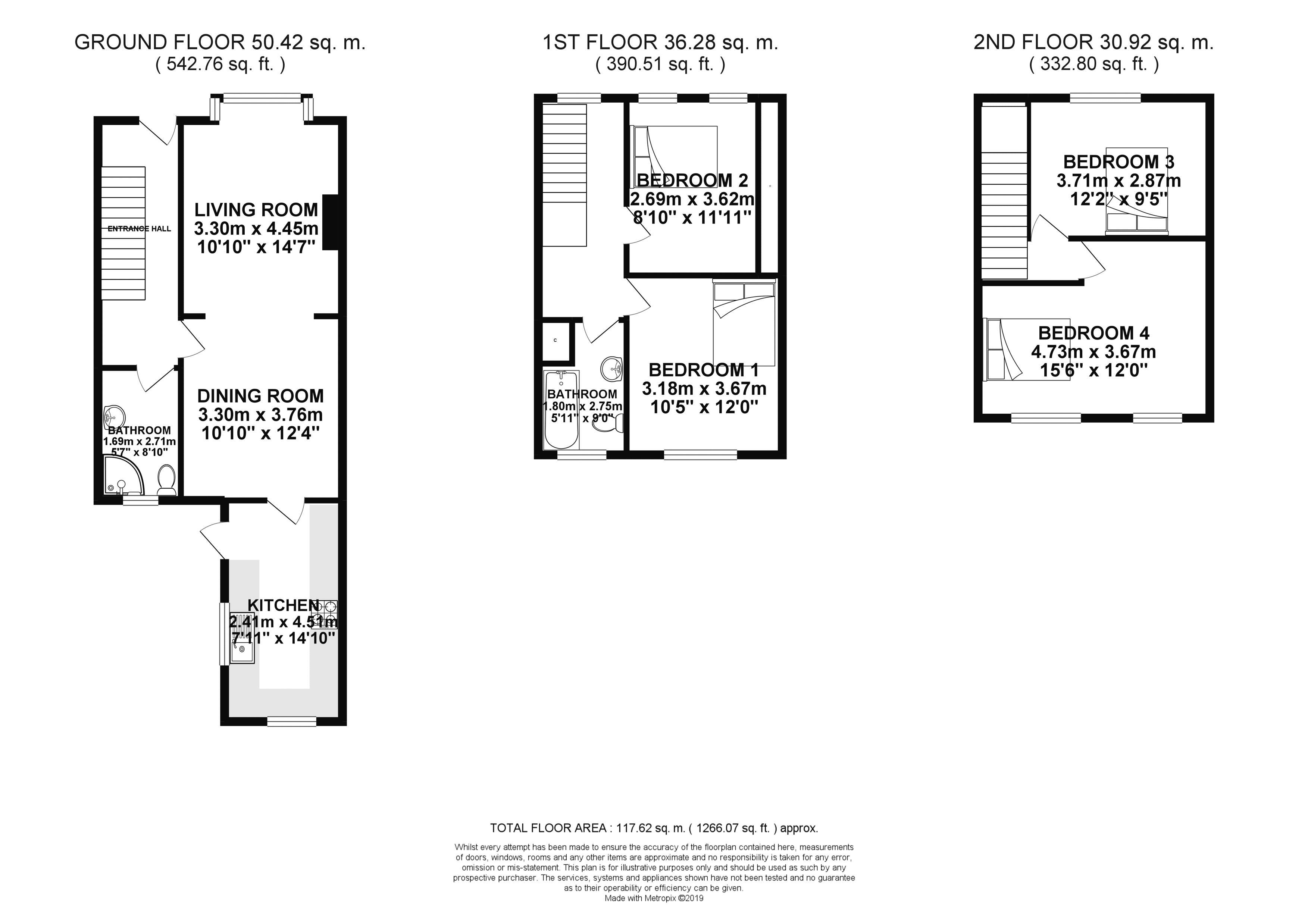 Floor plans for Buller Road, Brighton property for sale in Coombe Road, Brighton by Coapt