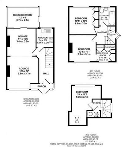 Floor plans for Bevendean Crescent, Brighton property for sale in Bevendean, Brighton by Coapt