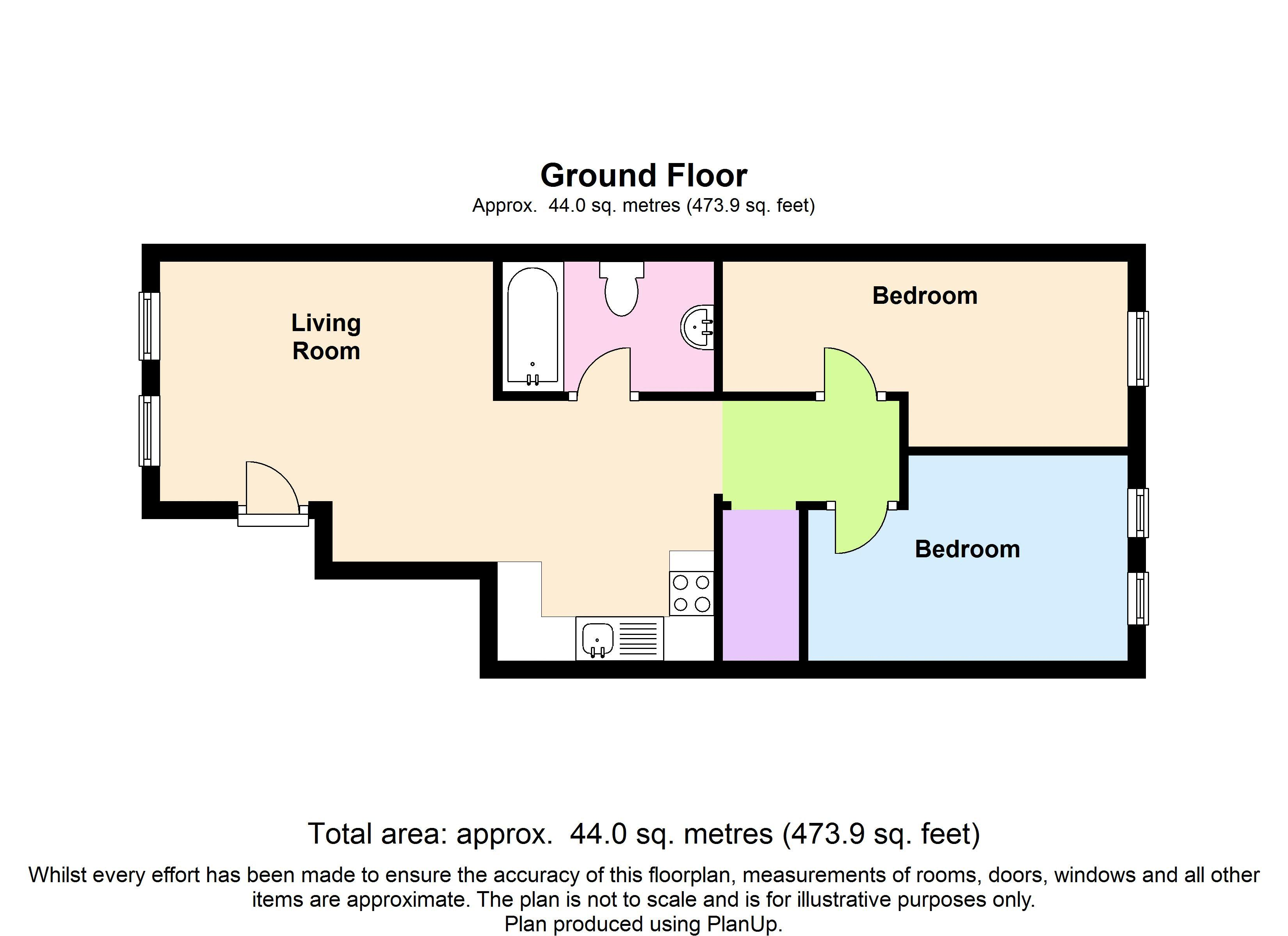 Floor plans for Bedford Place, Brighton property for sale in Central Brighton, Brighton by Coapt