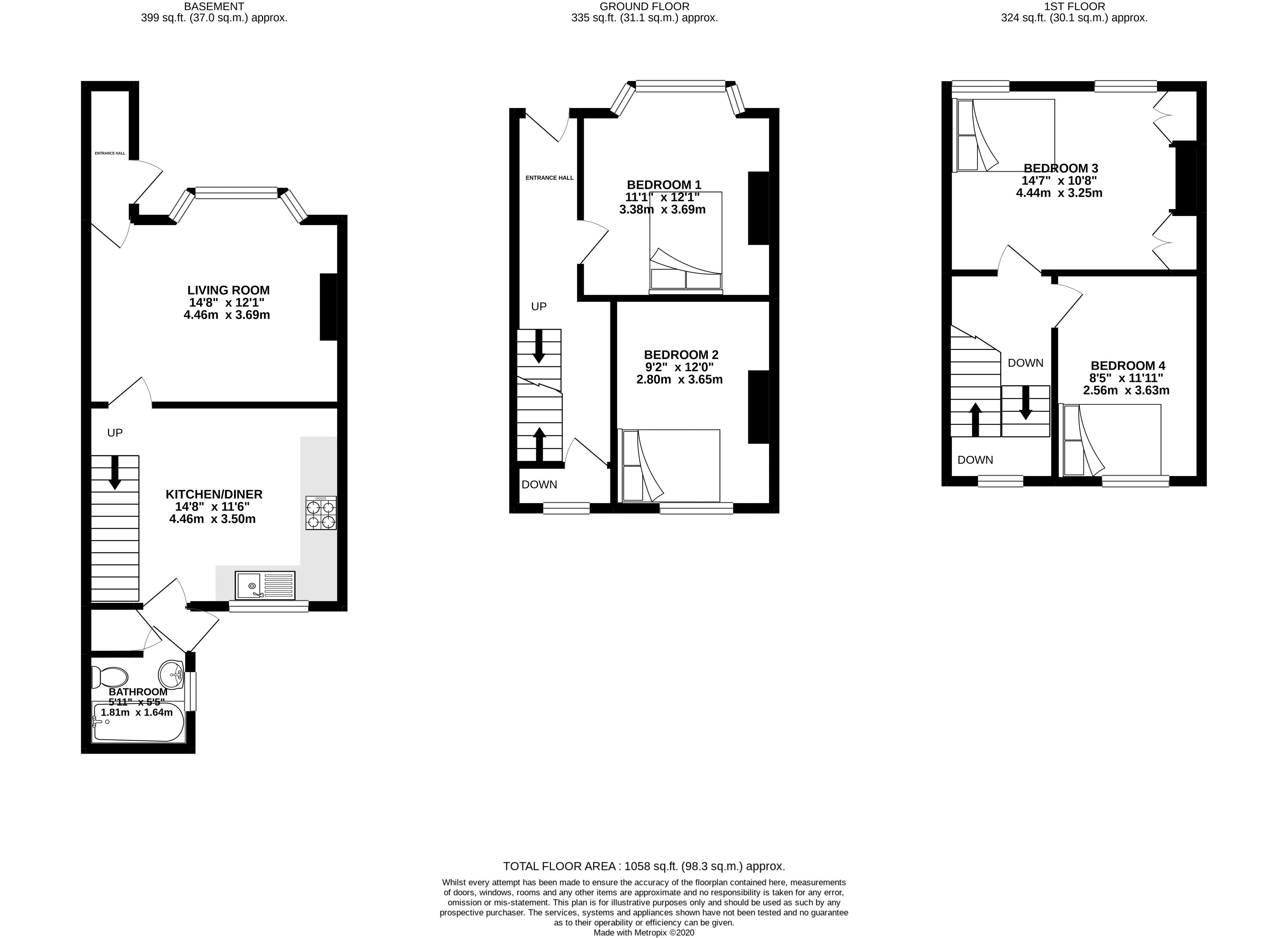 Floor plans for Mayo Road, Brighton property for sale in Lewes Road South, Brighton by Coapt