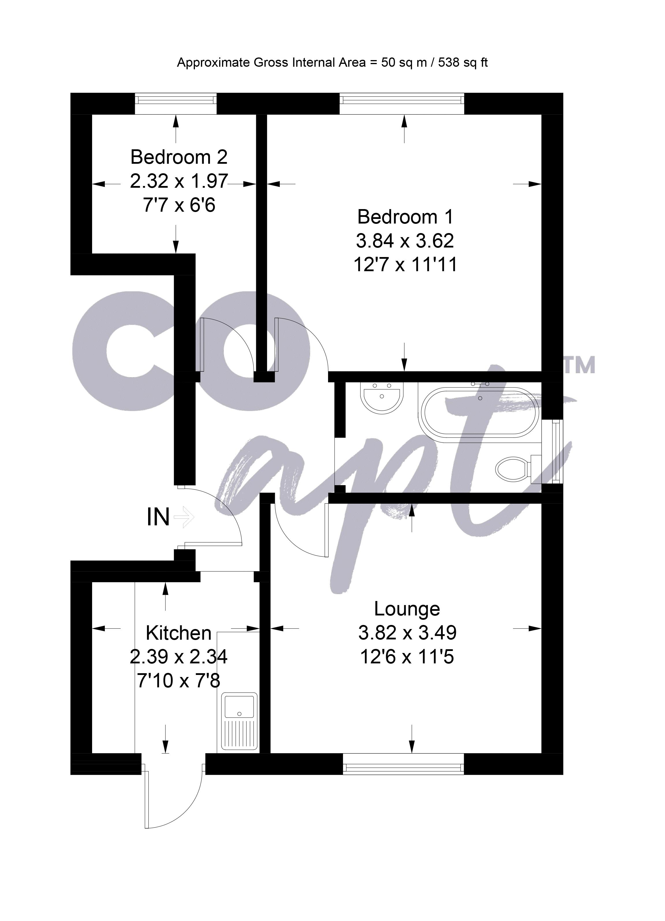 Floor plans for Stanmer Park Road, Brighton property for sale in Hollingdean, Brighton by Coapt