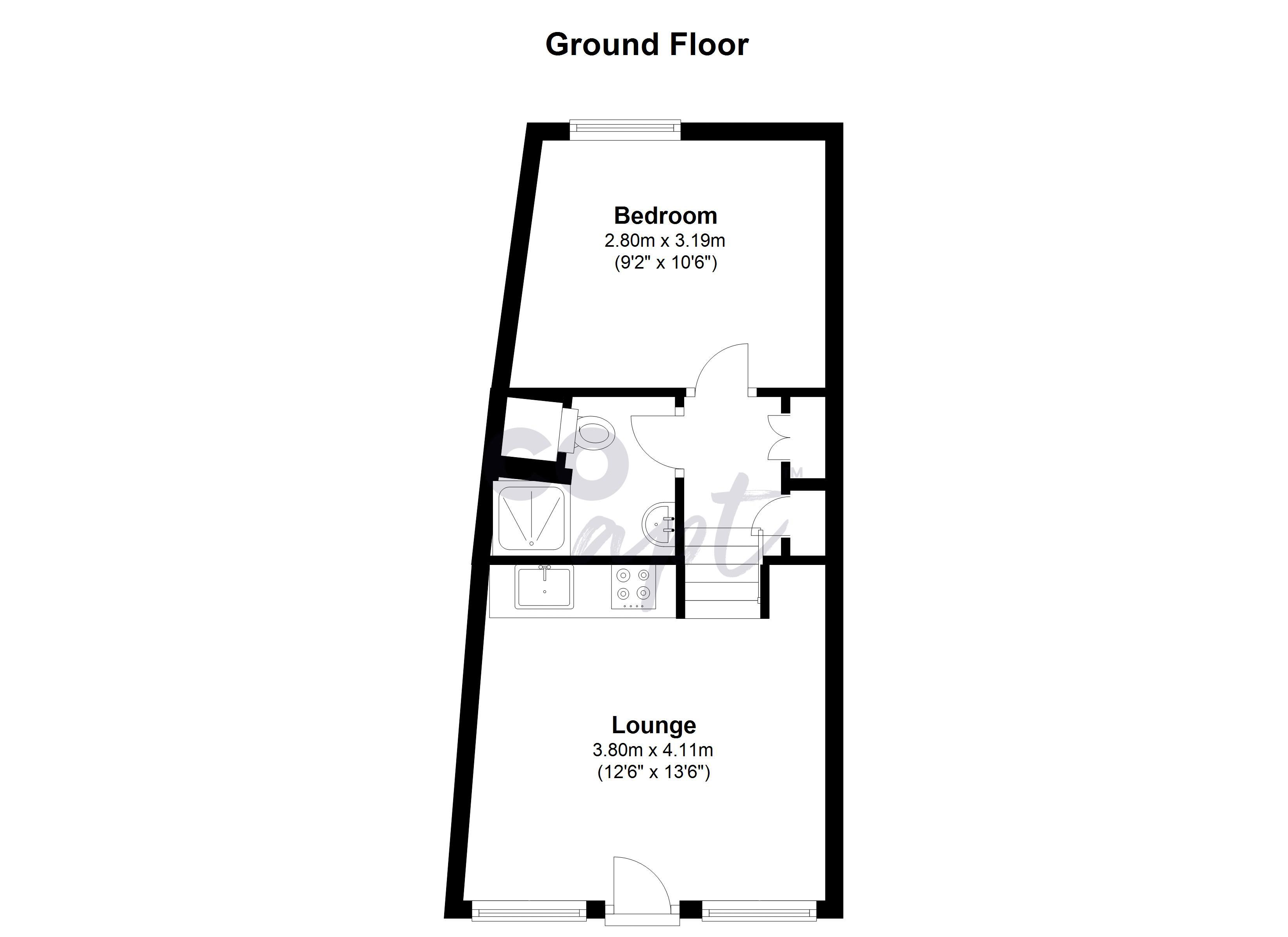 Floor plans for Robertson Road, Brighton property for sale in Preston Drove, Brighton by Coapt