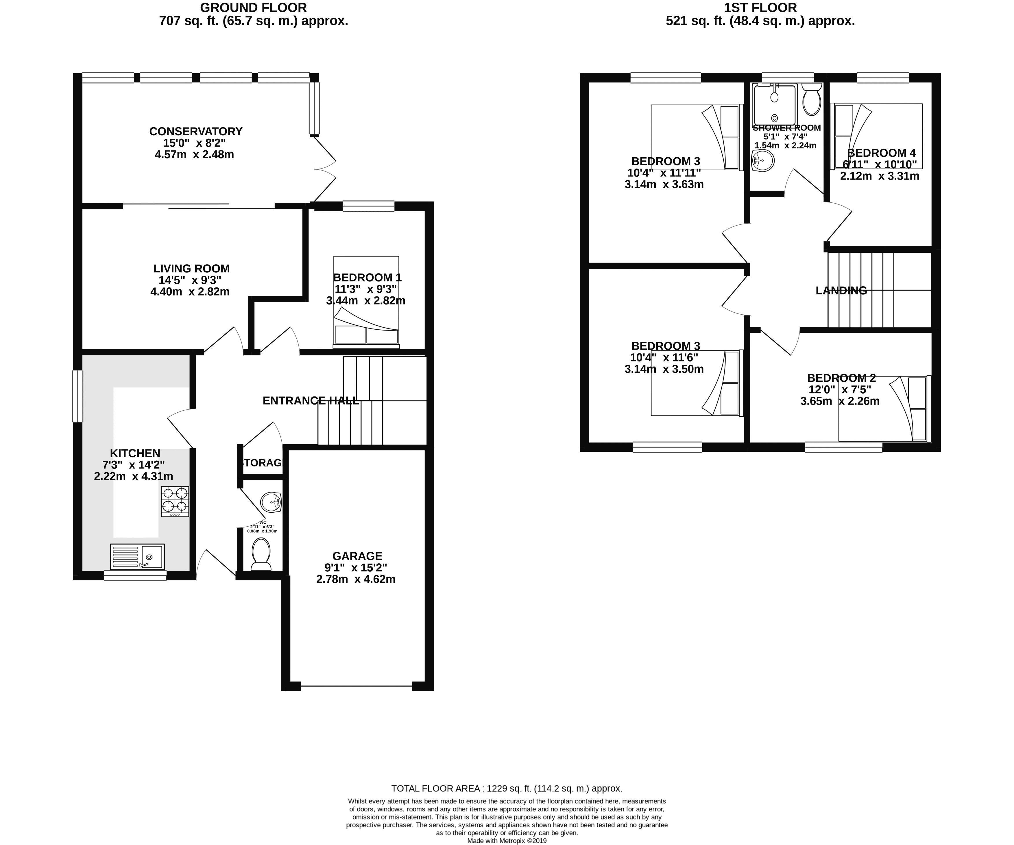 Floor plans for Canfield Close, Brighton property for sale in Coombe Road, Brighton by Coapt