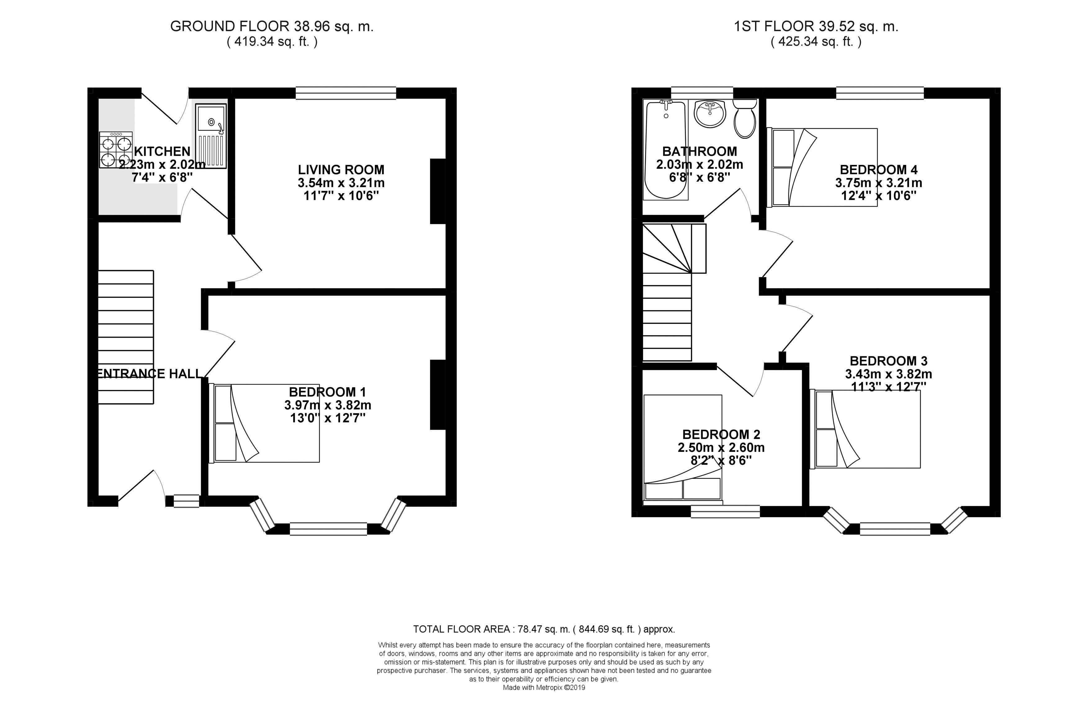 Floor plans for Crayford Road, Brighton property for sale in Coombe Road, Brighton by Coapt