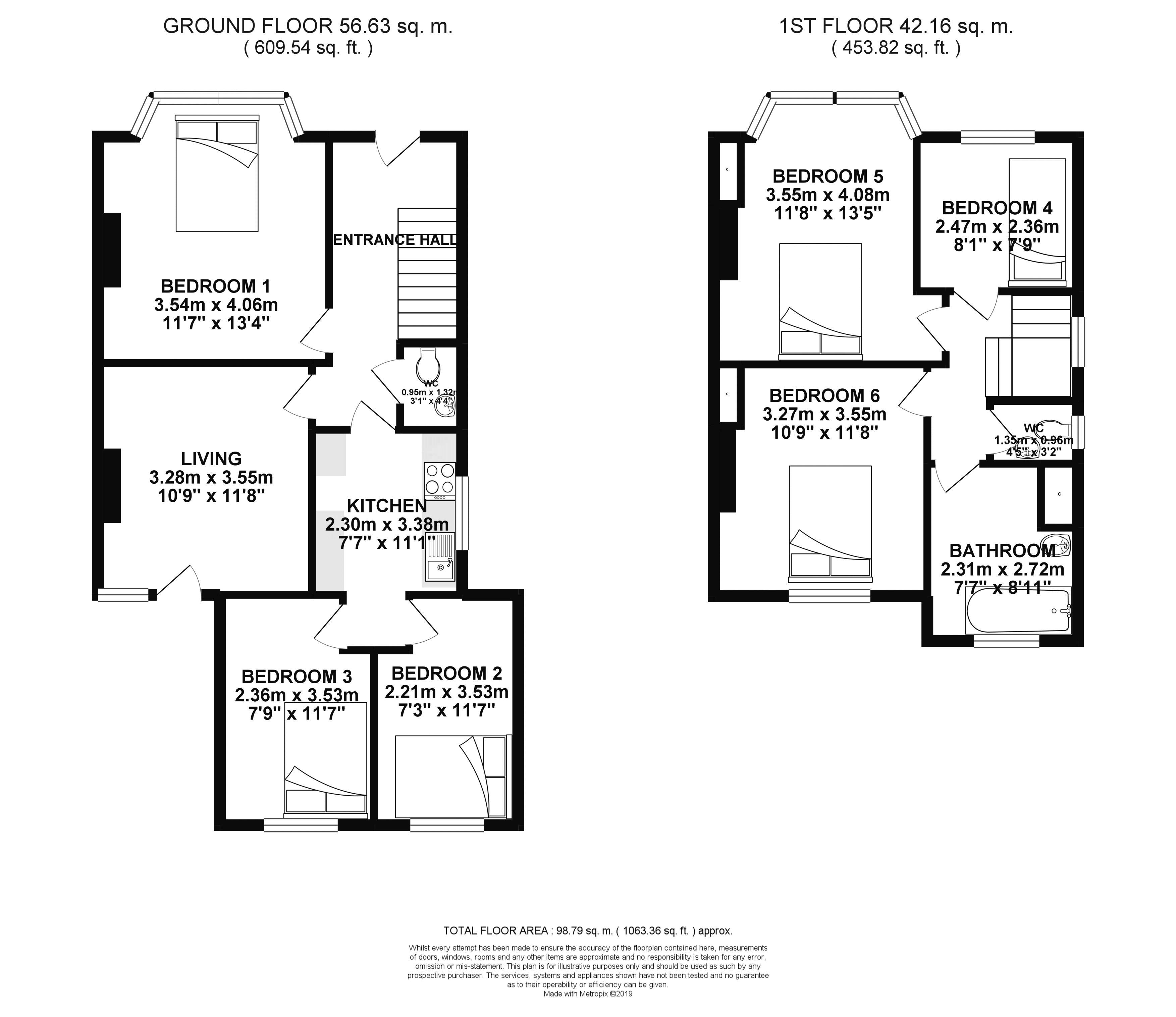 Floor plans for Park Road, Brighton property for sale in Coldean, Brighton by Coapt