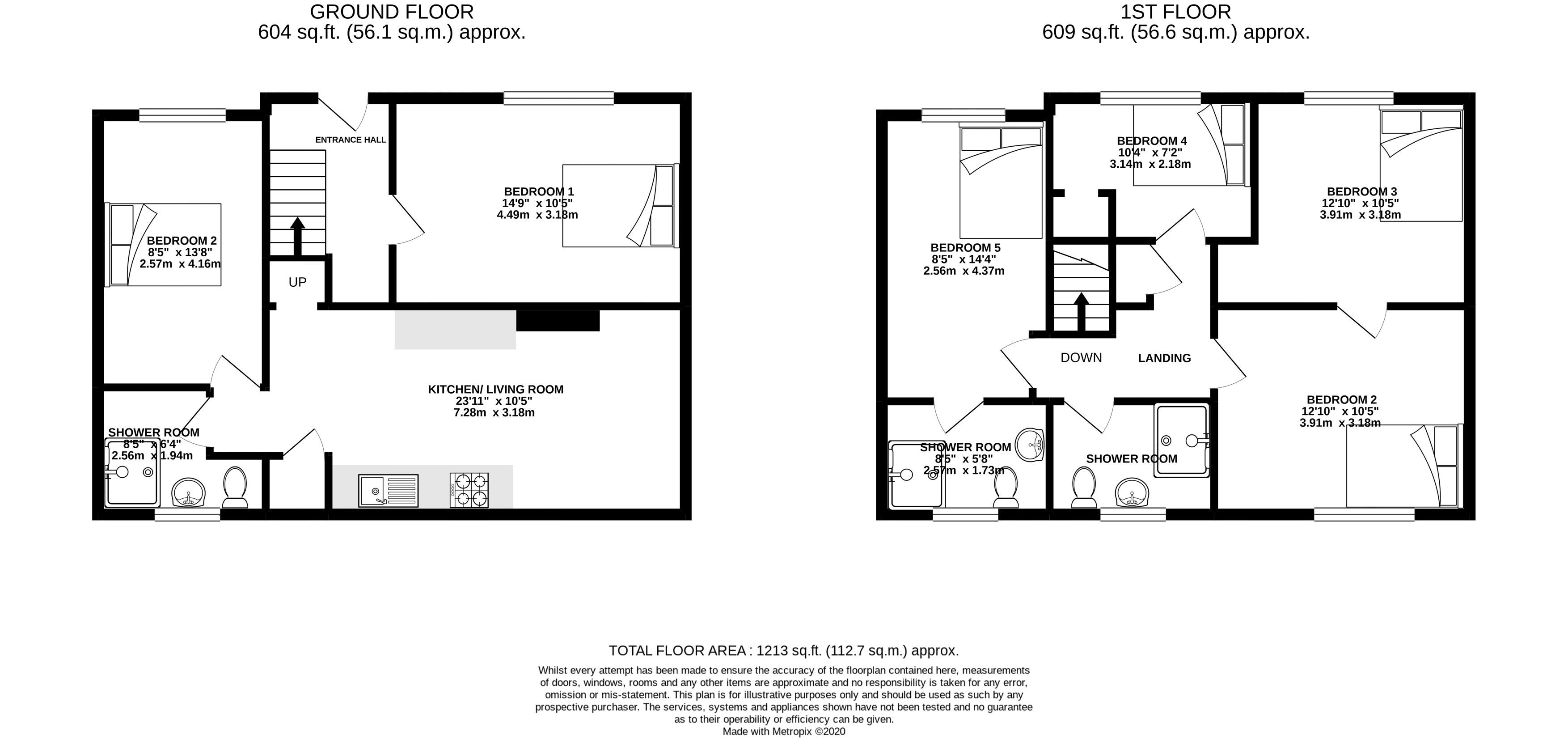 Floor plans for Ewhurst Road, Brighton property for sale in Coombe Road, Brighton by Coapt