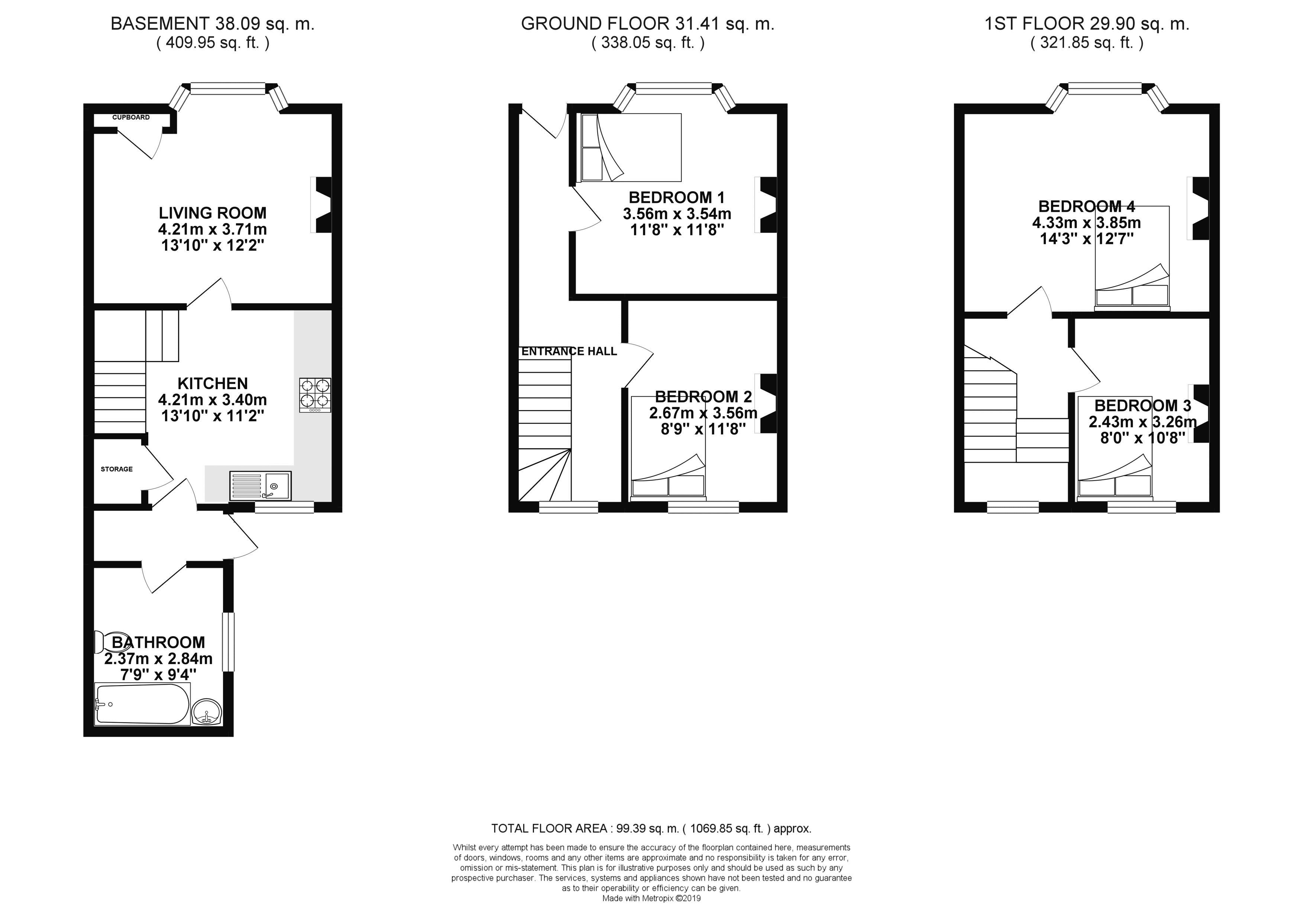 Floor plans for Brewer Street, Brighton property for sale in Lewes Road South, Brighton by Coapt