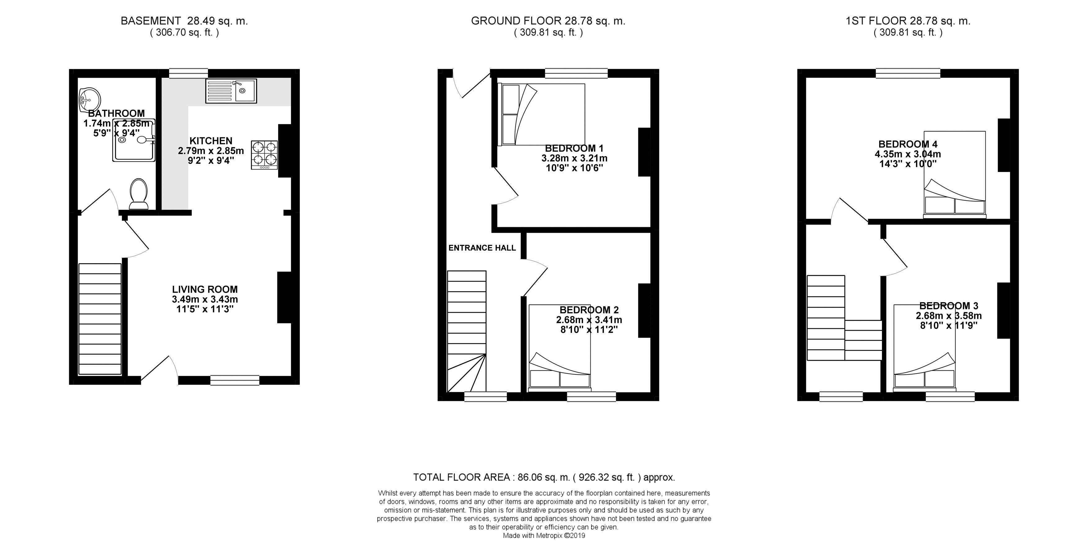 Floor plans for St. Mary Magdalene Street, Brighton property for sale in Lewes Road South, Brighton by Coapt