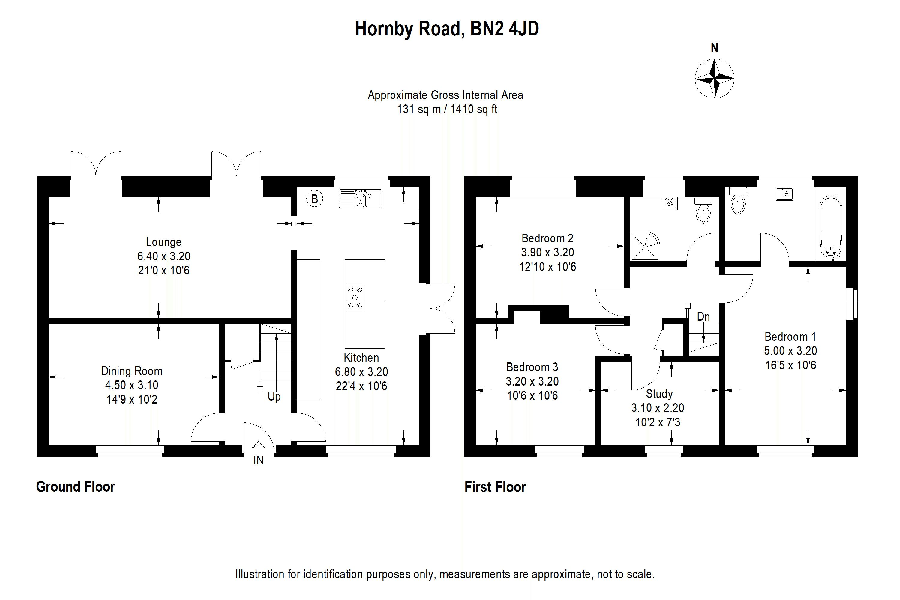 Floor plans for Hornby Road, Brighton property for sale in Bevendean, Brighton by Coapt