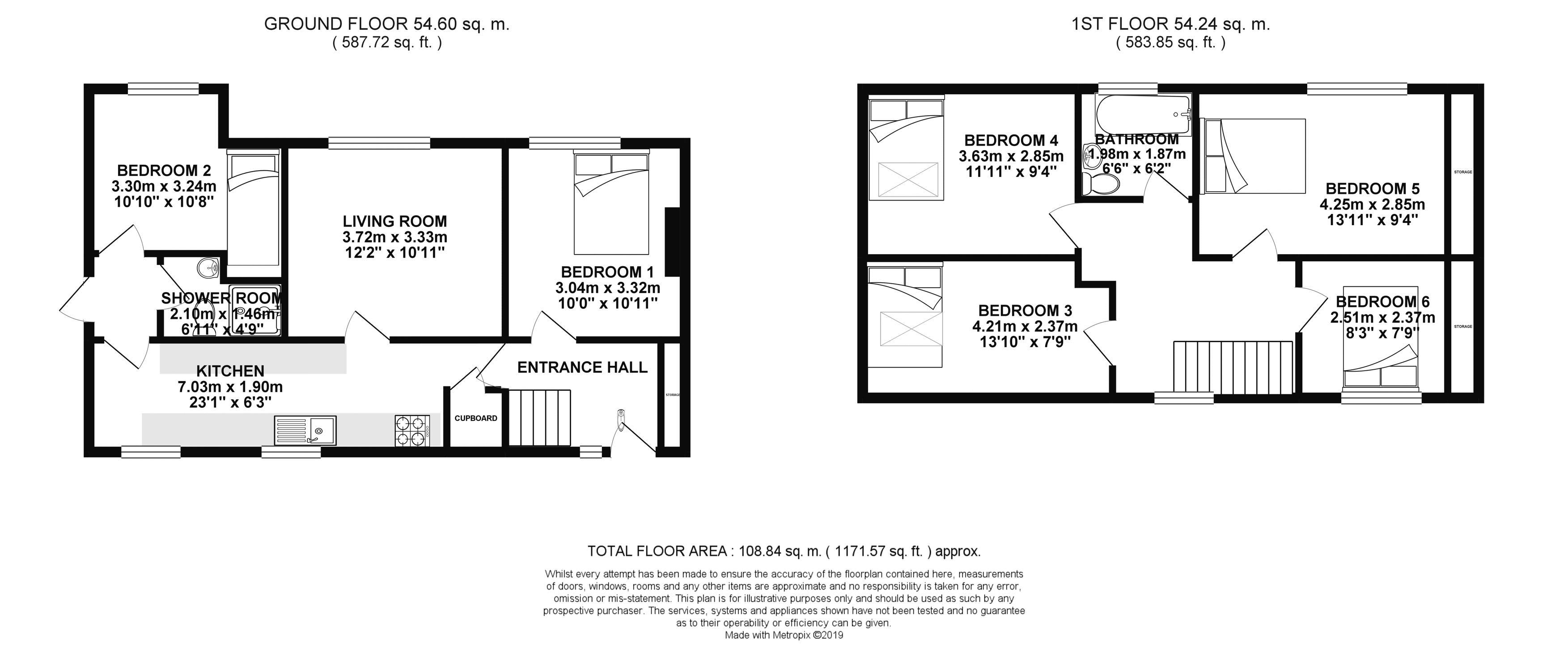 Floor plans for Halland Road, Brighton property for sale in Moulsecoomb, Brighton by Coapt